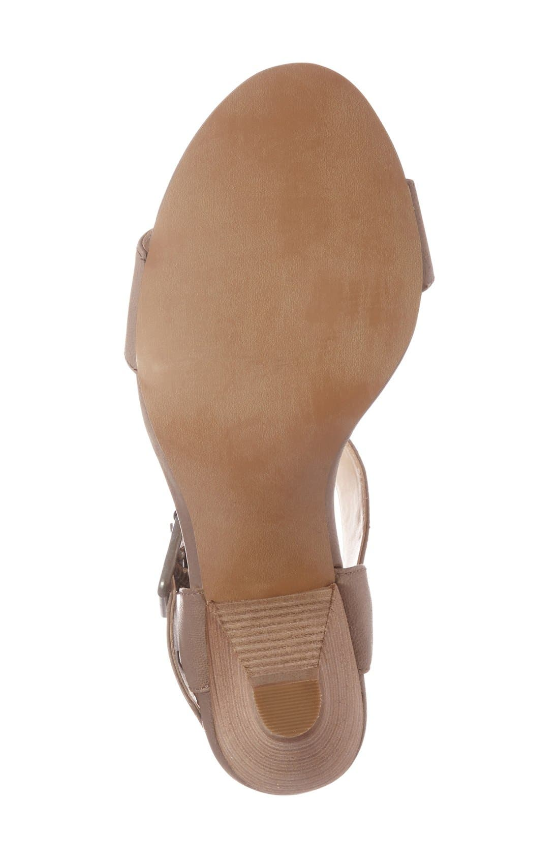 'Missy' Sandal,                             Alternate thumbnail 4, color,                             Taupe Wax Leather