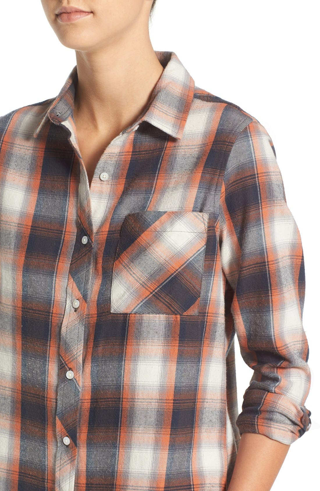 Alternate Image 4  - Rip Curl 'Zarca' Plaid Flannel Shirt