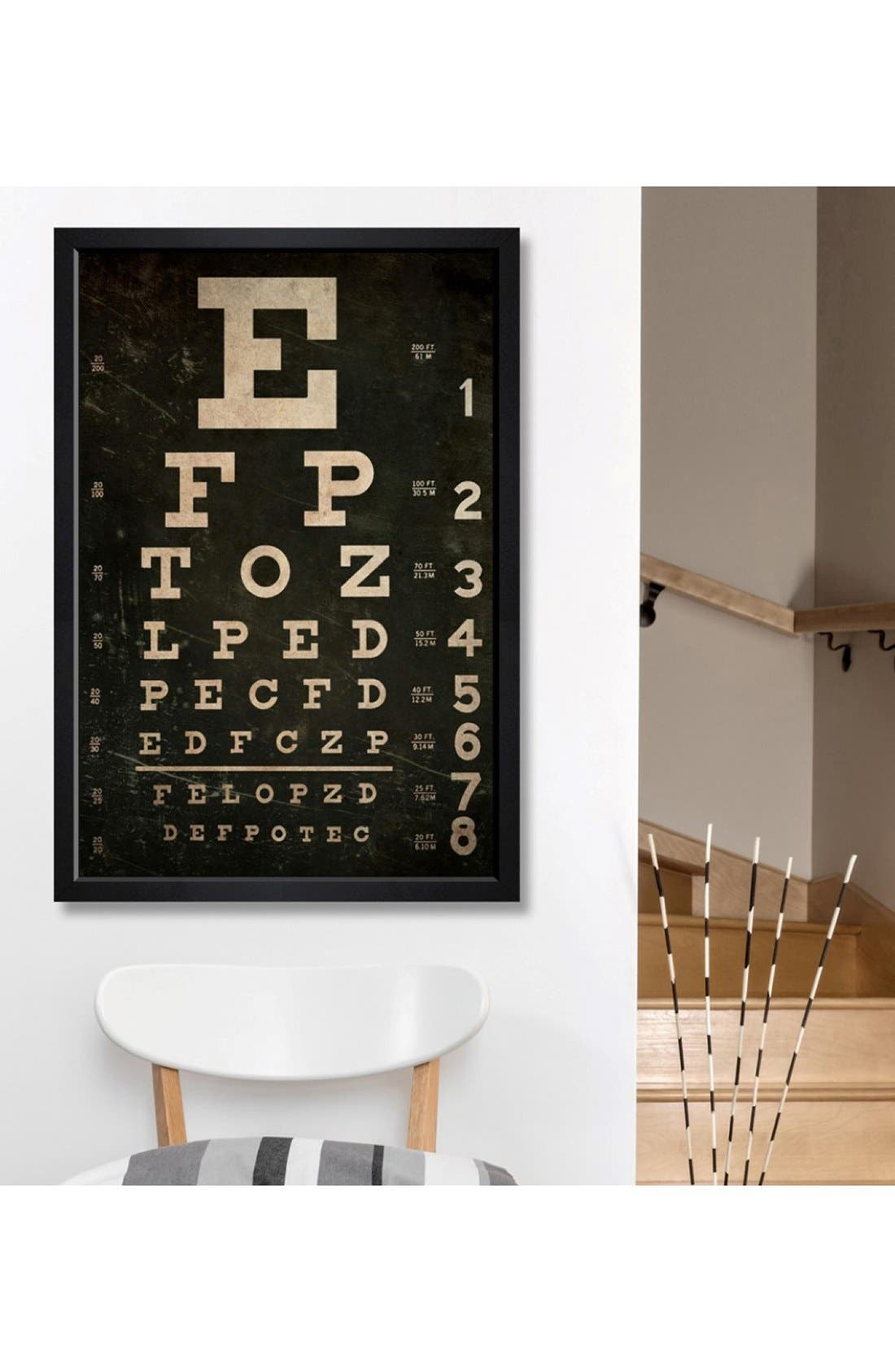 'Eye Test' Framed Canvas Print,                             Alternate thumbnail 2, color,                             Black