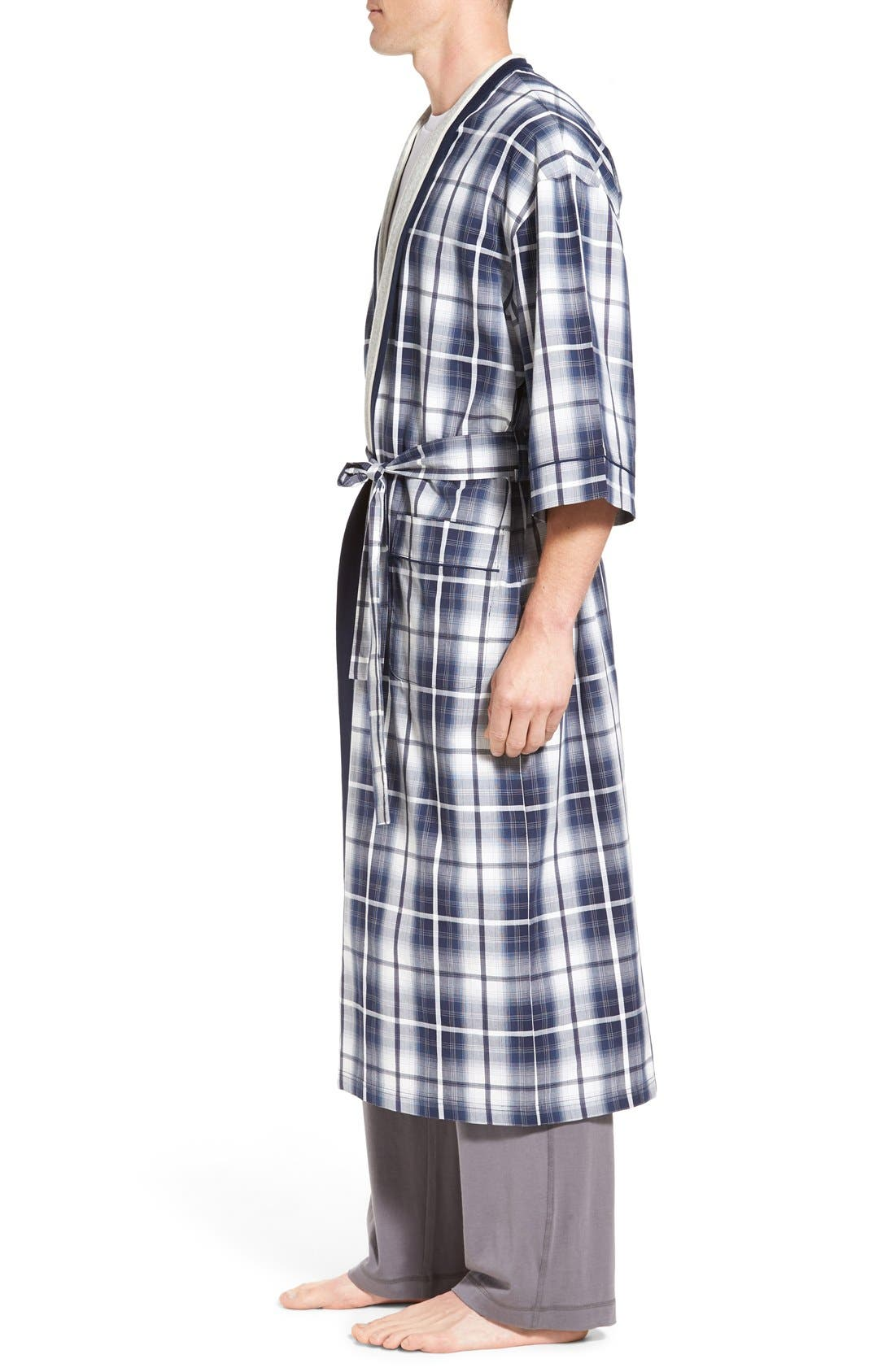 'Mad 4 Plaid' Robe,                             Alternate thumbnail 3, color,                             Blue