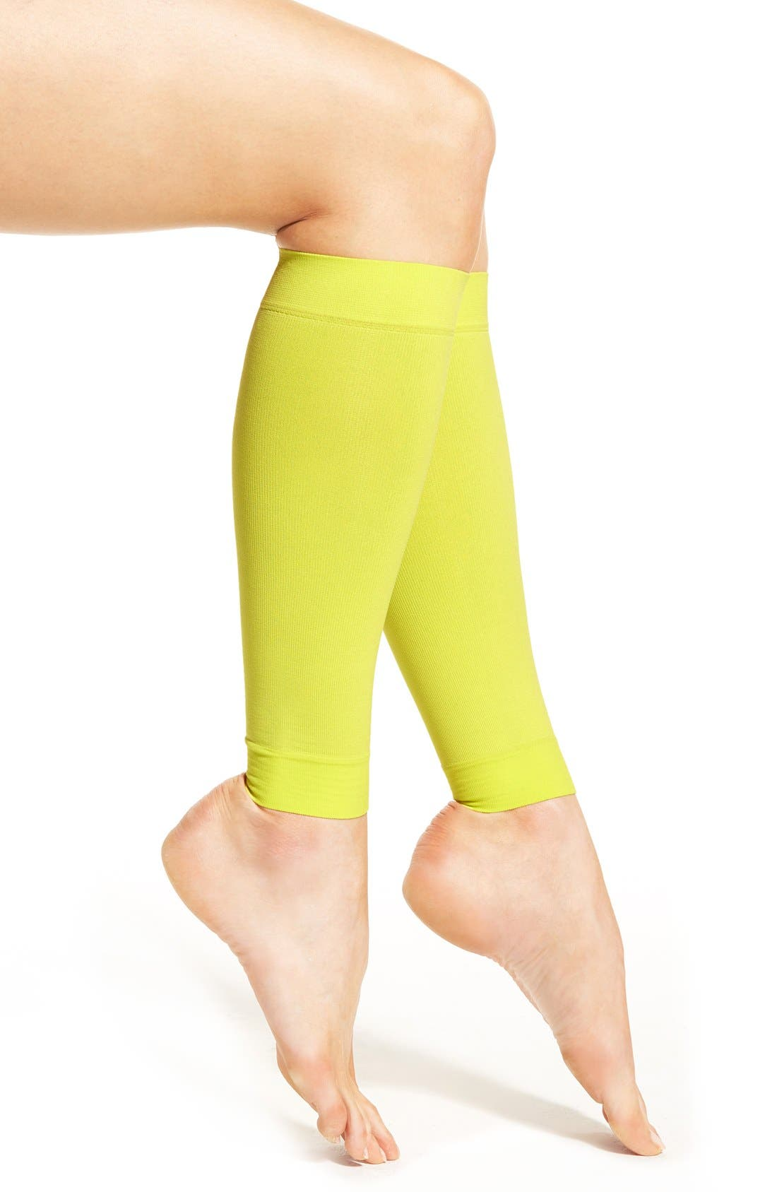 Graduated Compression Calf Sleeves,                             Main thumbnail 1, color,                             Limeade