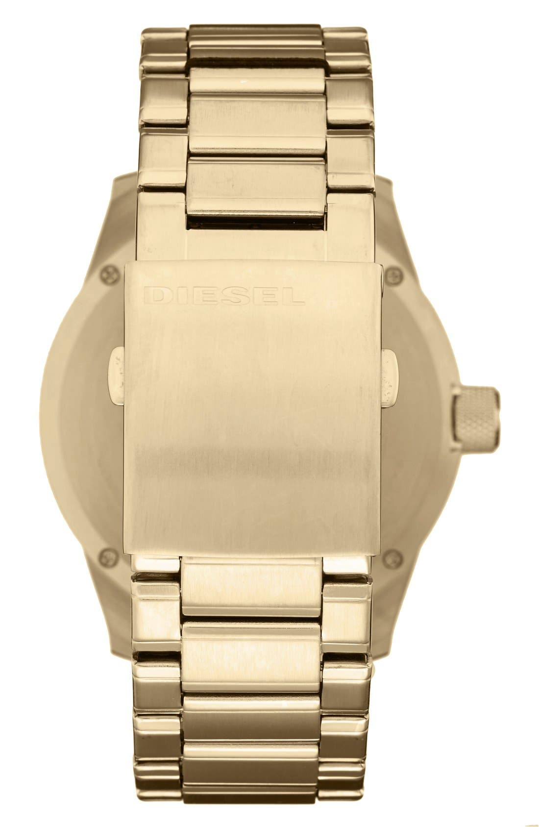 Alternate Image 2  - DIESEL® The Rasp Bracelet Watch, 46mm