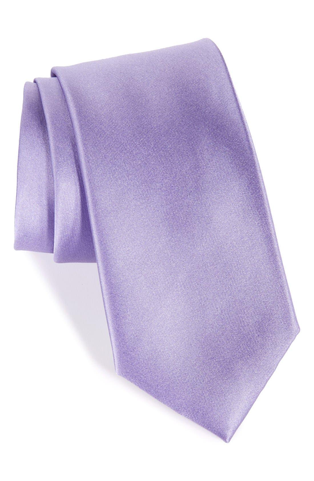 Nordstrom Men's Shop Solid Satin Silk Tie