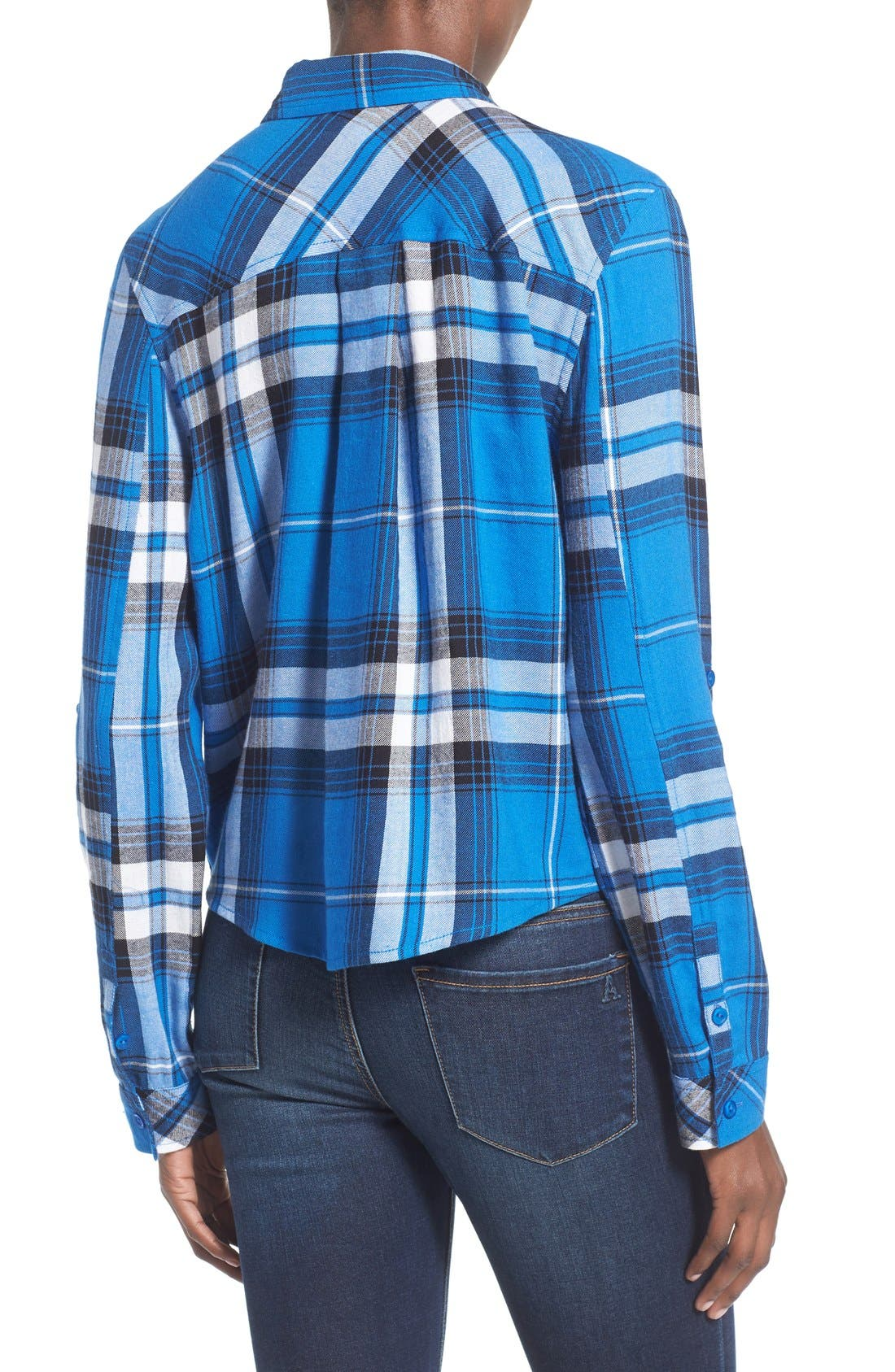 Alternate Image 2  - BP. Crop Plaid Shirt