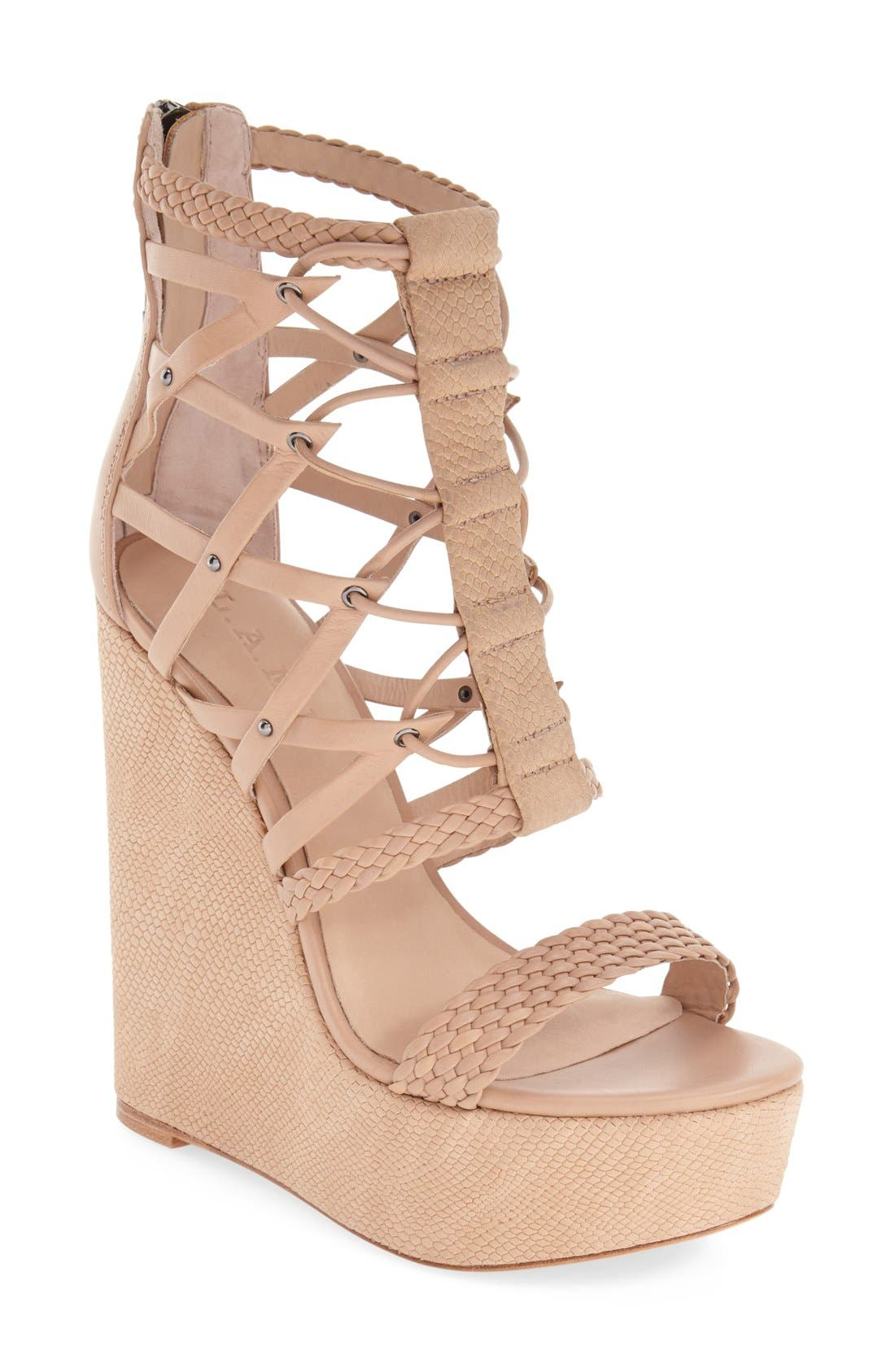 Alternate Image 1 Selected - L.A.M.B. 'Omega' Wedge Sandal (Women)