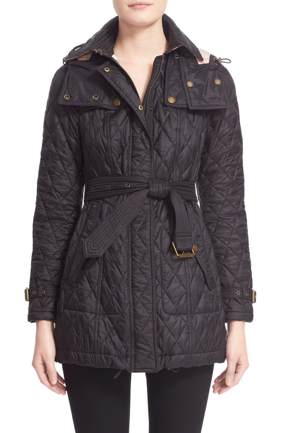 Main Image - Burberry Finsbridge Belted Quilted Jacket