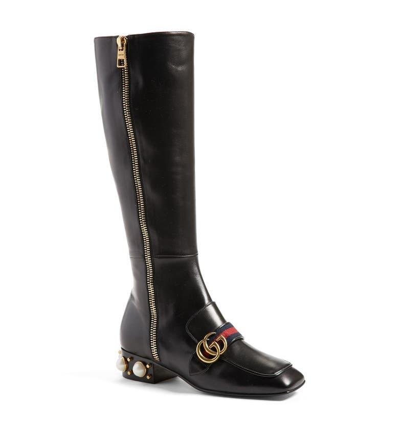 36f993c09dd Gucci  Peyton  Embellished Riding Boot (Women)