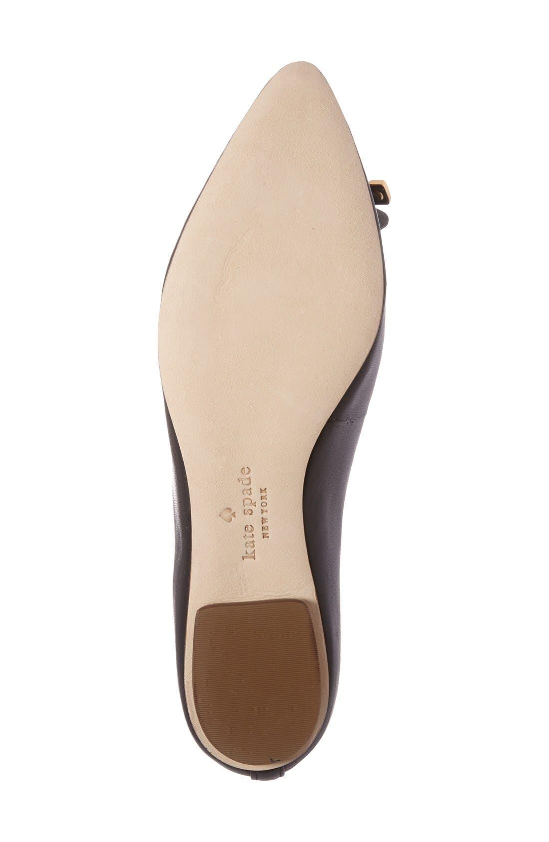 Alternate Image 4  - kate spade new york 'emma' pointy toe flat (Women)