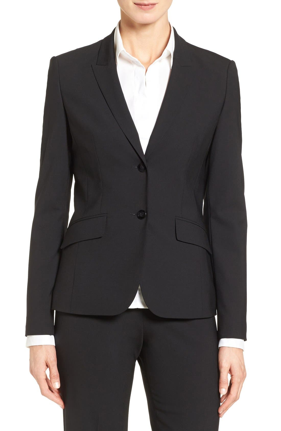 BOSS Julea Stretch Wool Suit Jacket (Regular & Petite)