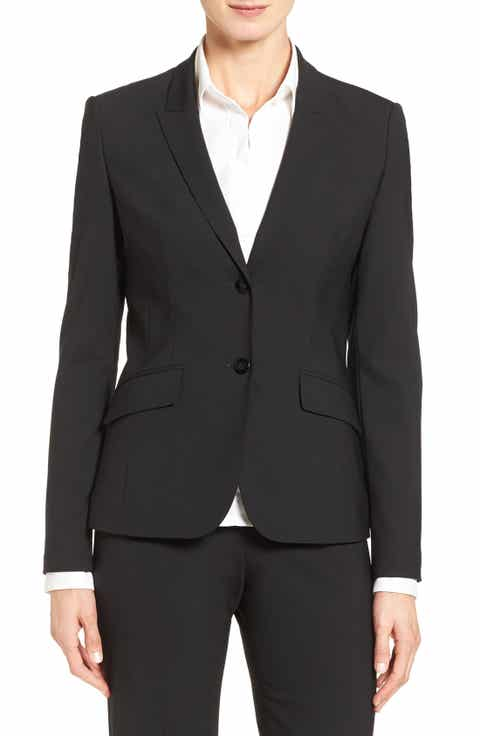 BOSS Julea Stretch Wool Suit Jacket (Regular & Petite) Best Price