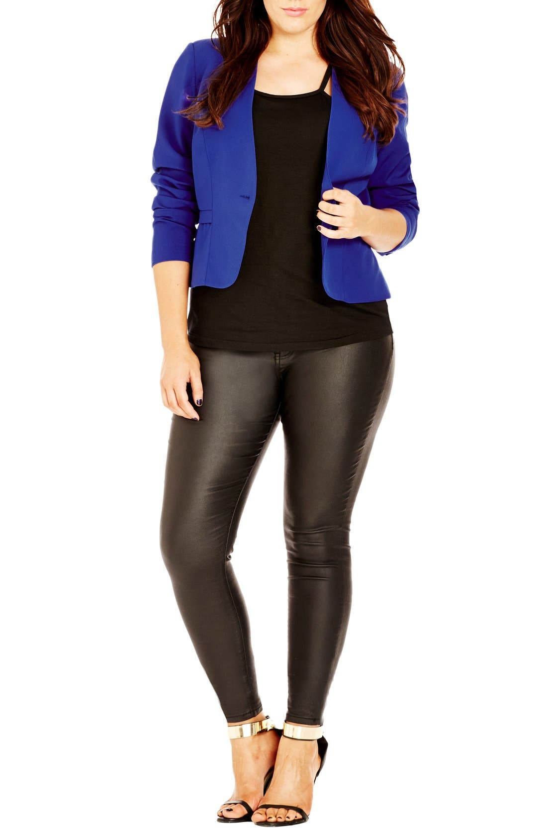 Alternate Image 1 Selected - City Chic 'Cheeky' Peplum Jacket (Plus Size)