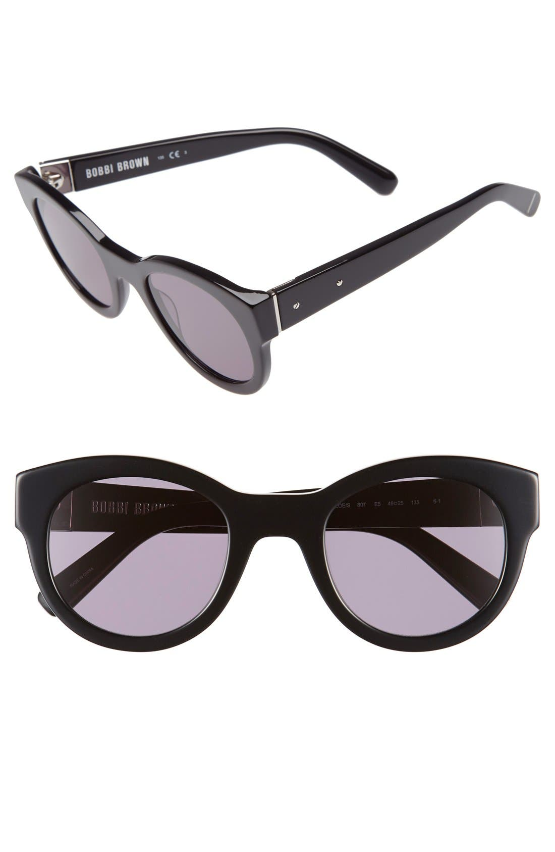 Alternate Image 1 Selected - Bobbi Brown 'The Zoe/S' 49mm Sunglasses