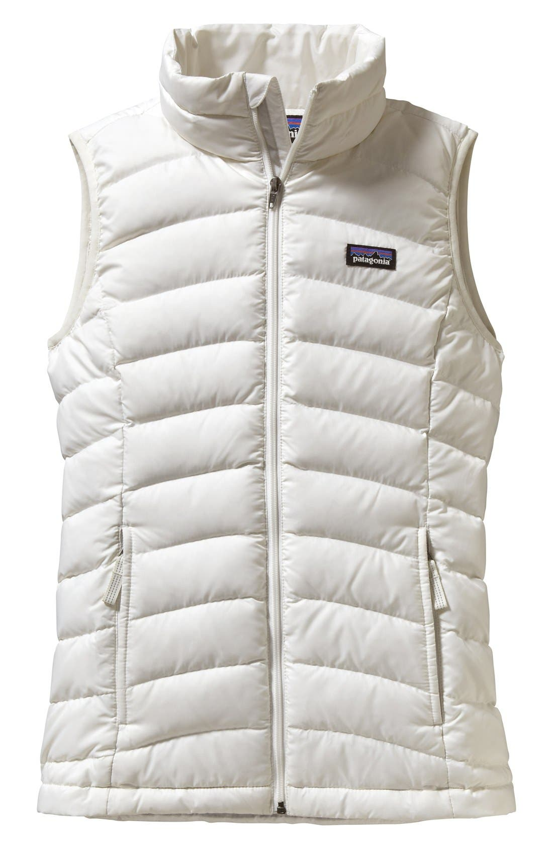 Windproof & Water Resistant Down Sweater Vest,                         Main,                         color, Birch White