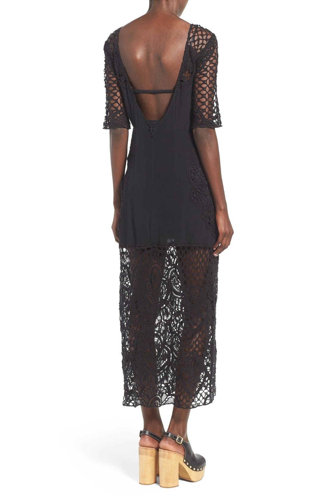 Alternate Image 2  - For Love & Lemons 'Gracey' Illusion Lace Midi Dress