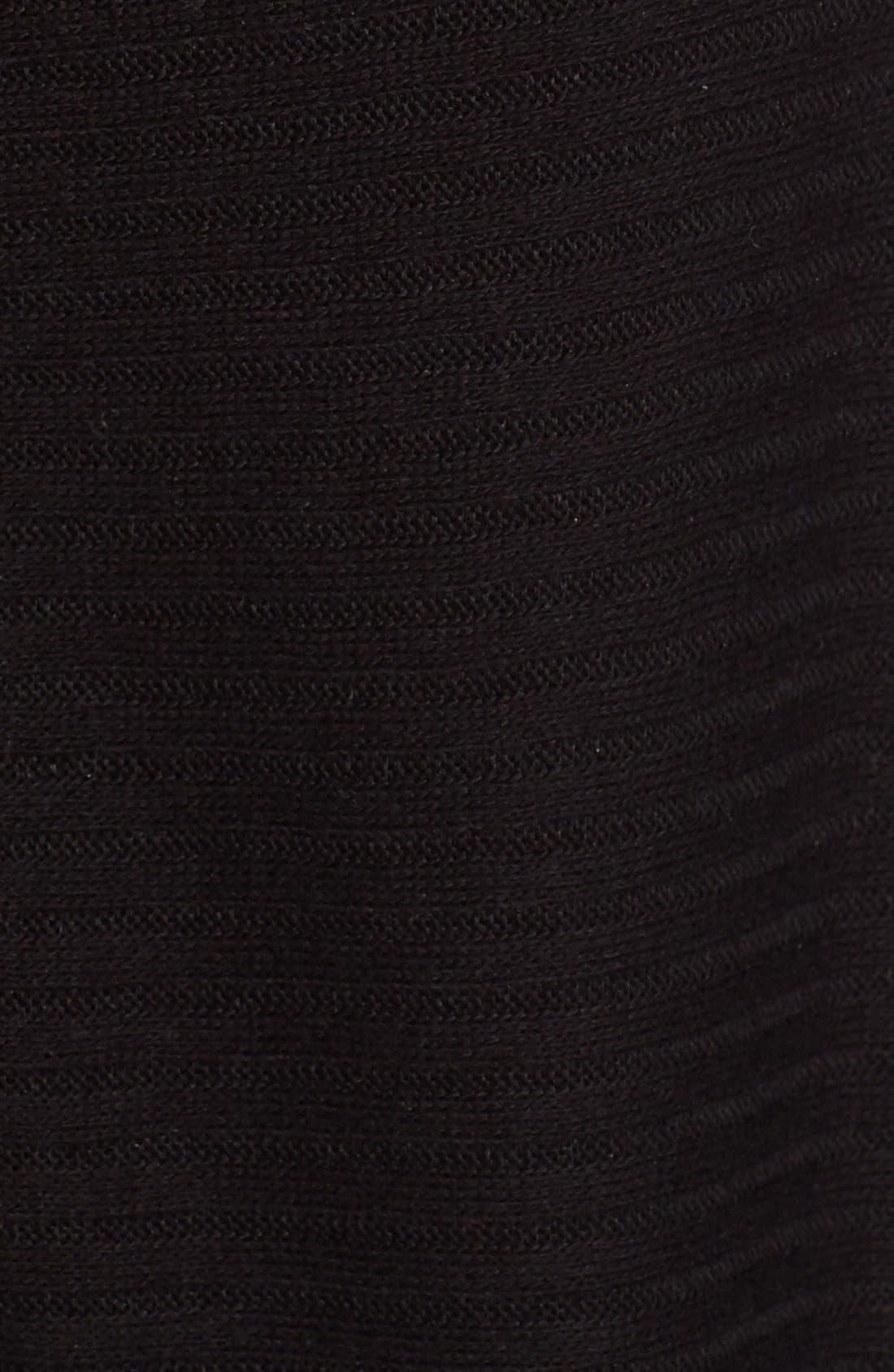 Lover Rib Split Back Pullover,                             Alternate thumbnail 5, color,                             Black