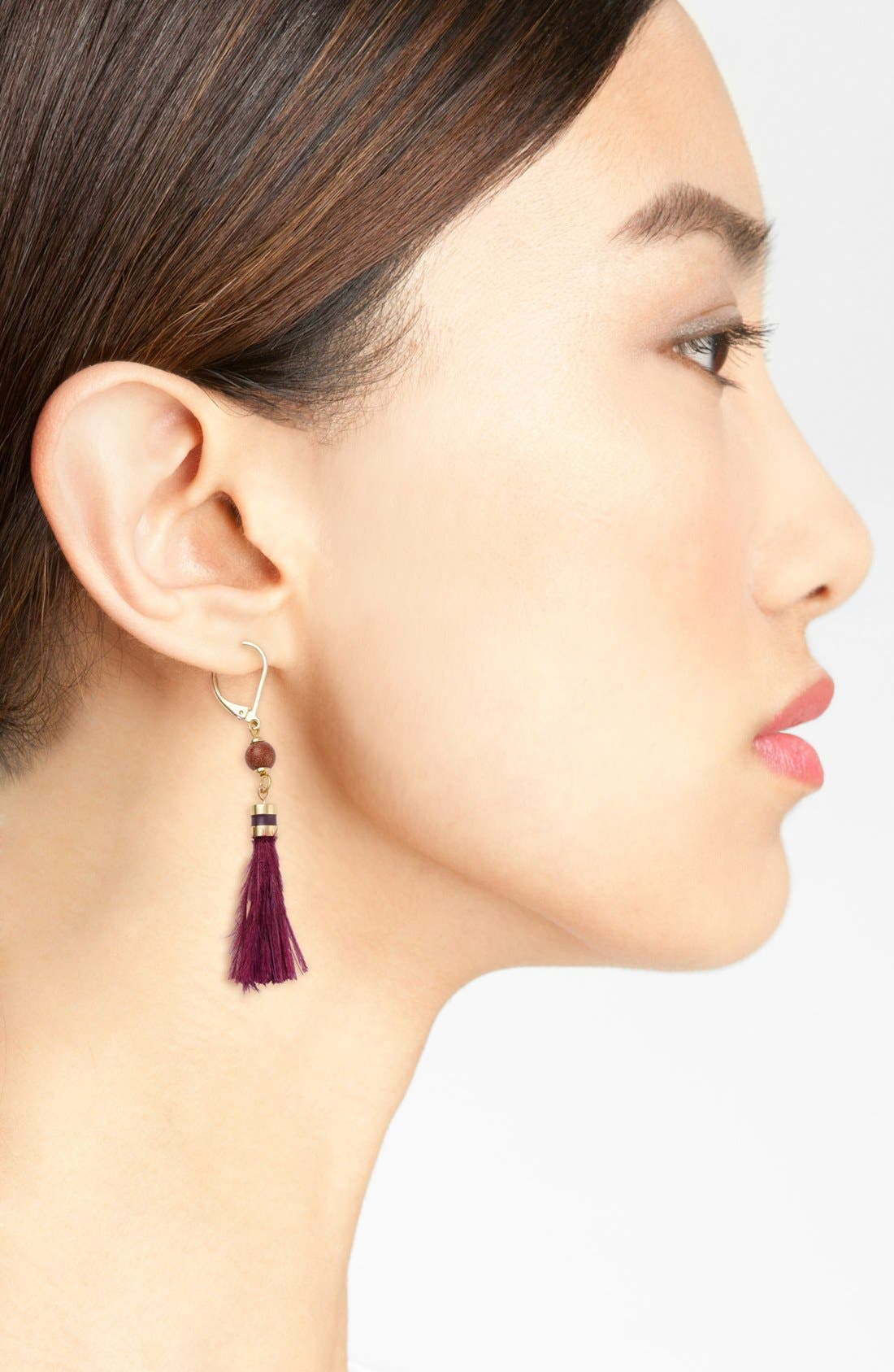 Alternate Image 2  - kate spade new york 'swing time' small tassel earrings
