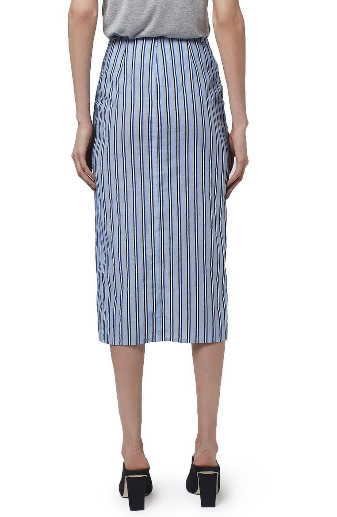 Alternate Image 3  - Topshop Boutique Stripe Faux Wrap Skirt