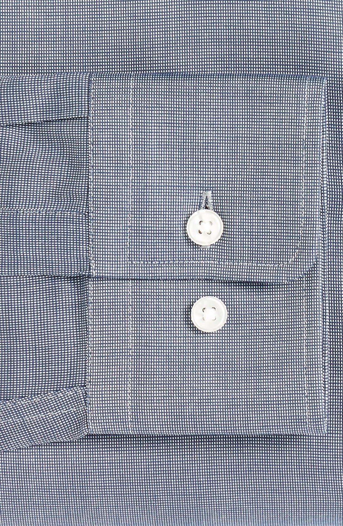Alternate Image 4  - BOSS Sharp Fit Solid Dress Shirt