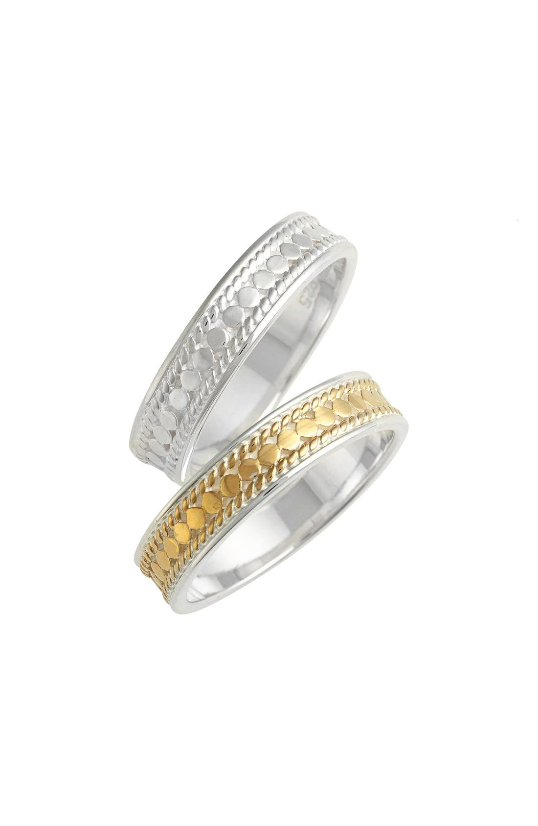 Two-Tone Stacking Rings,                             Main thumbnail 1, color,                             Gold