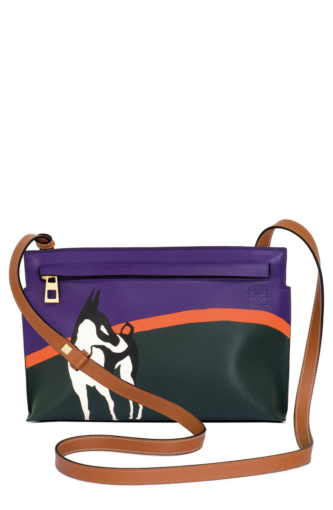 Alternate Image 1 Selected - Loewe 'Lost Dog - Medium T' Calfskin Leather Crossbody Pouch