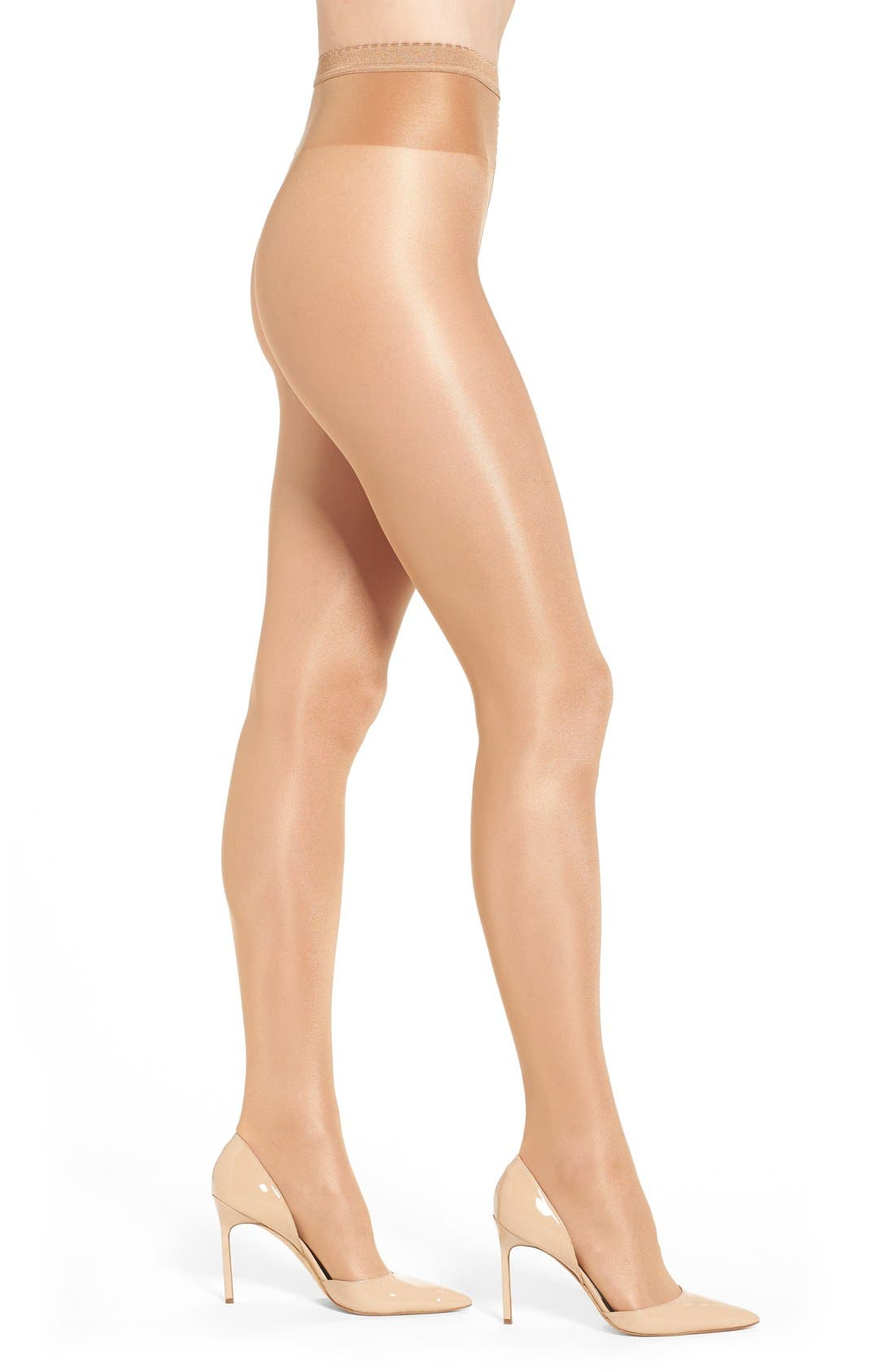 'Neon 40' Pantyhose,                         Main,                         color, Gobi