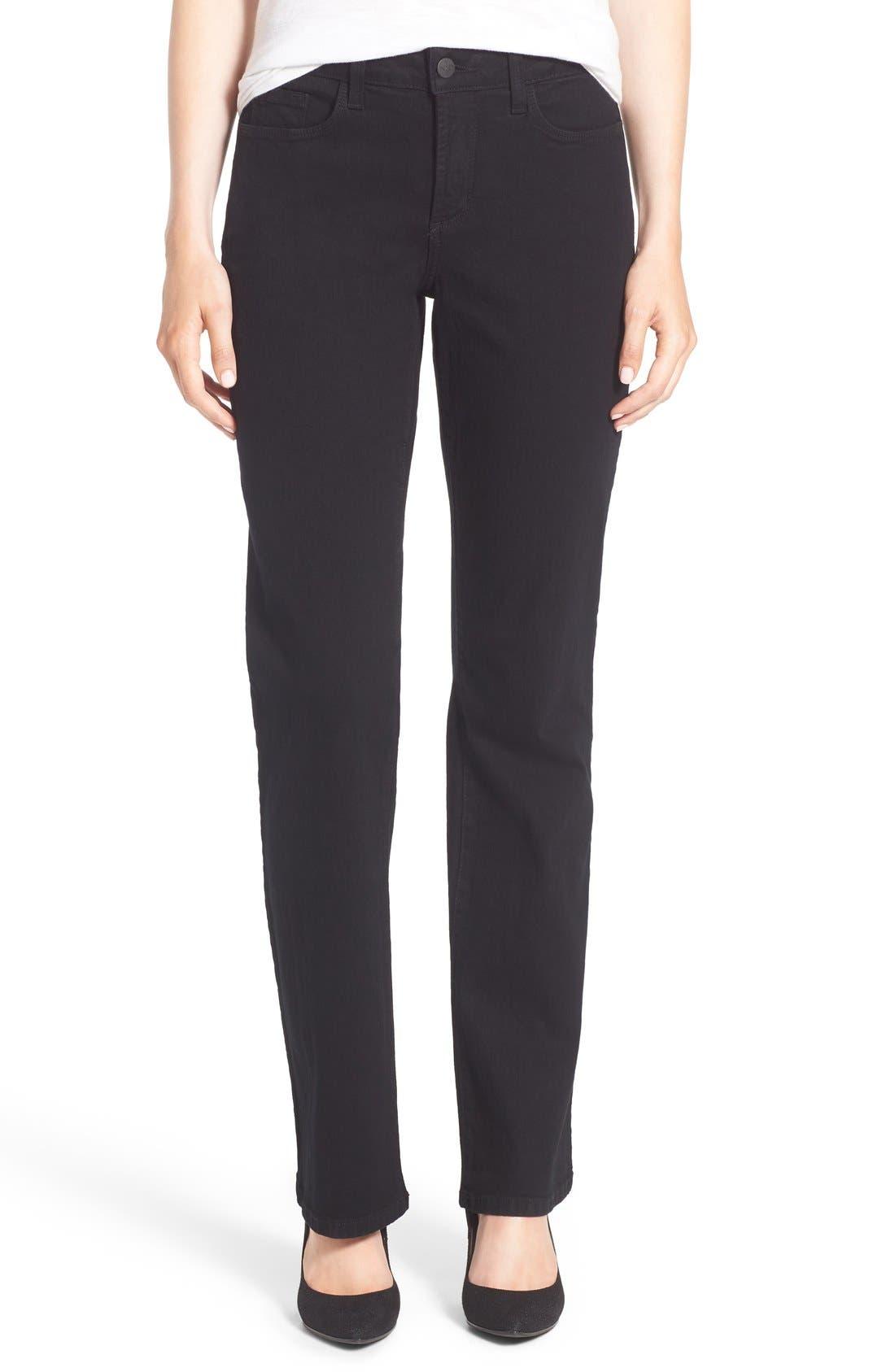 Barbara Stretch Bootcut Jeans,                         Main,                         color, Black
