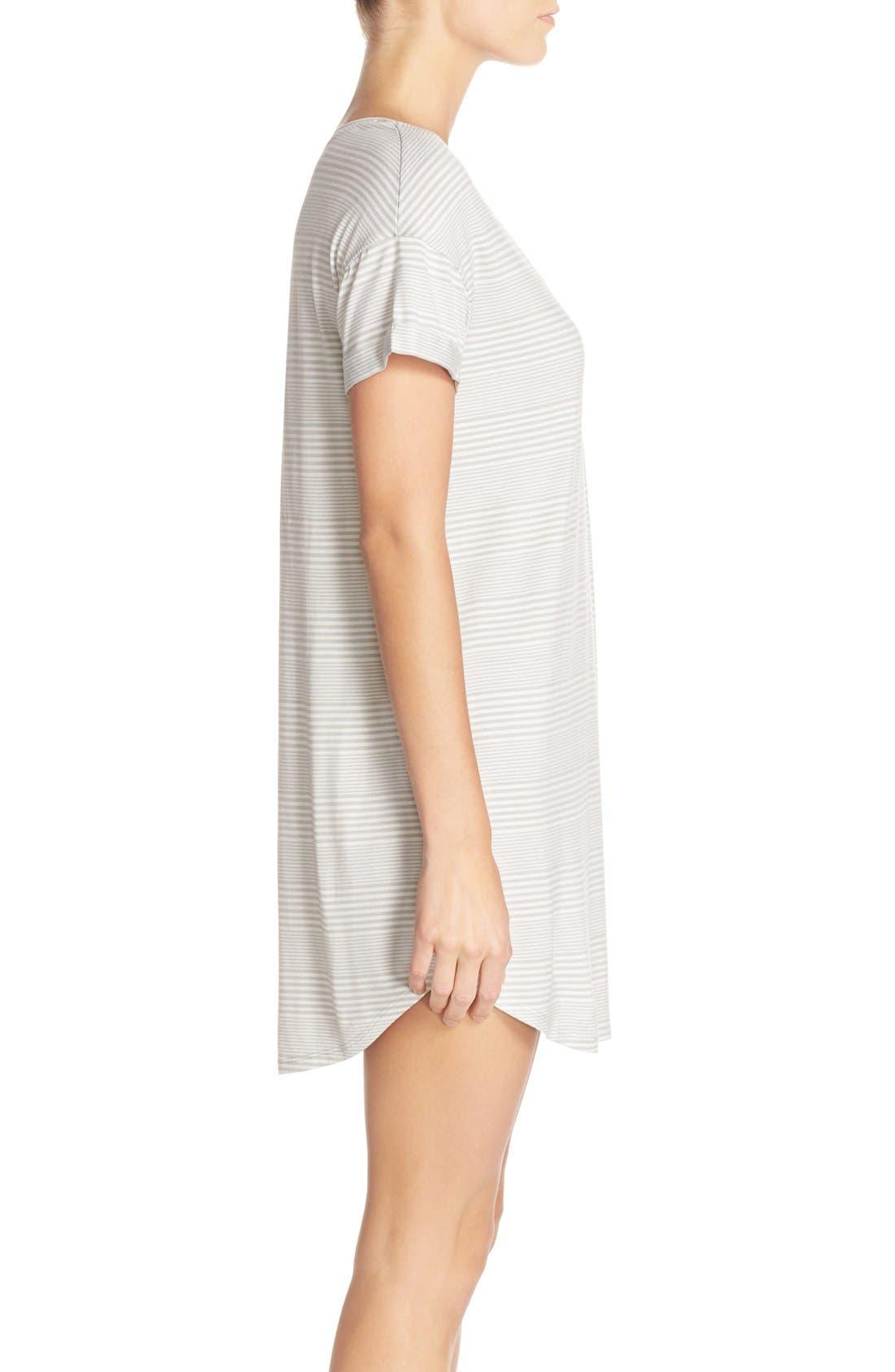 Alternate Image 3  - Nordstrom Lingerie Graphic Jersey Sleep Shirt
