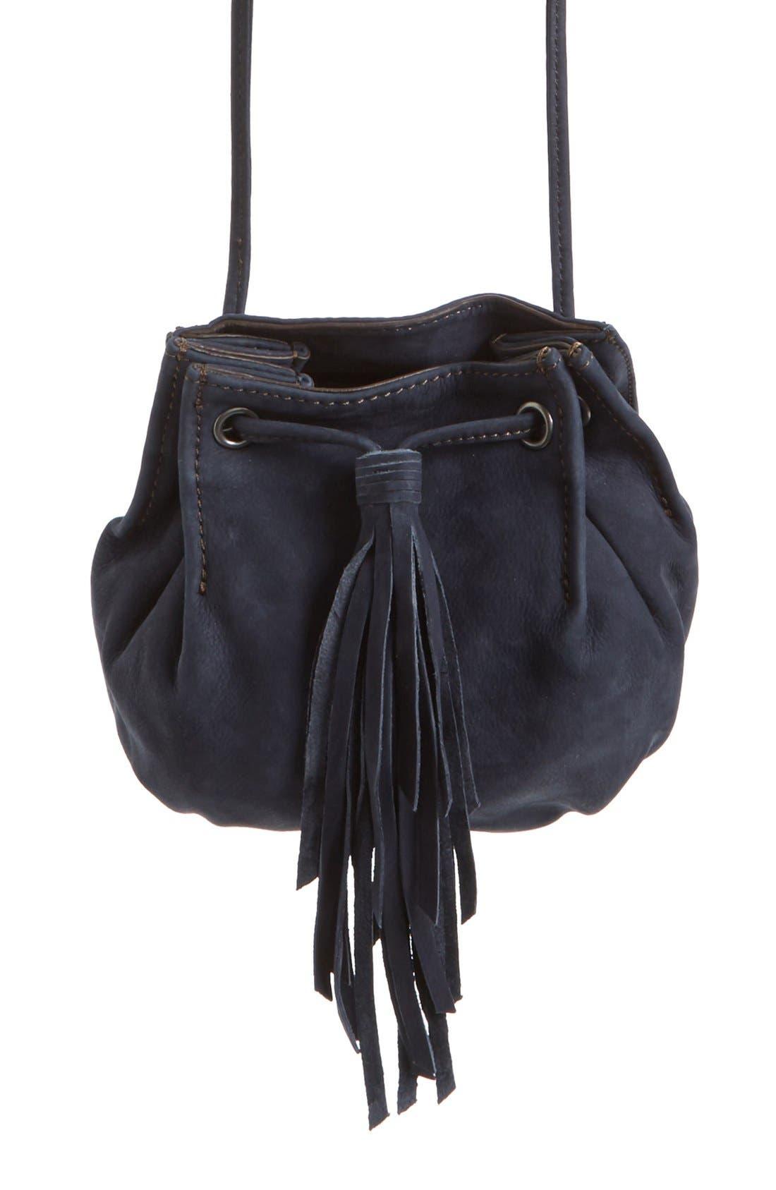 Alternate Image 4  - Treasure&Bond Tasseled Leather Bucket Bag