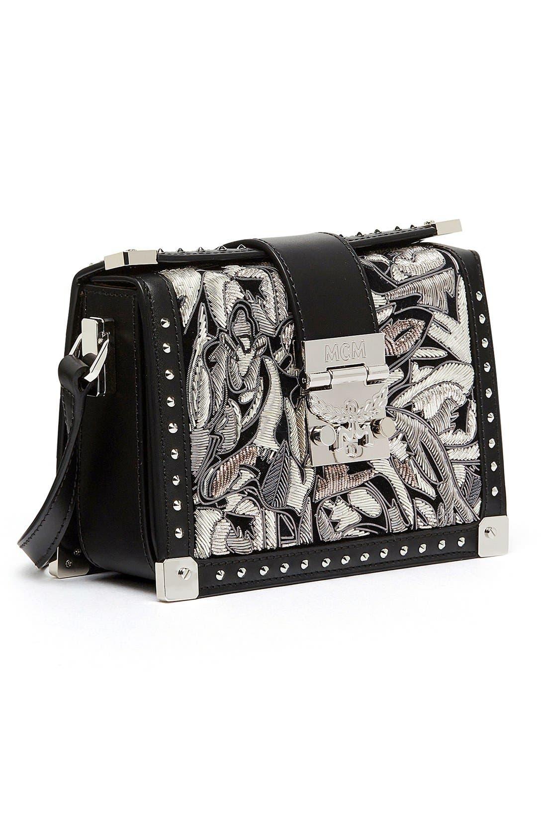 Alternate Image 4  - MCM 'Mini Mitte - Brocade' Embellished Leather Crossbody Bag