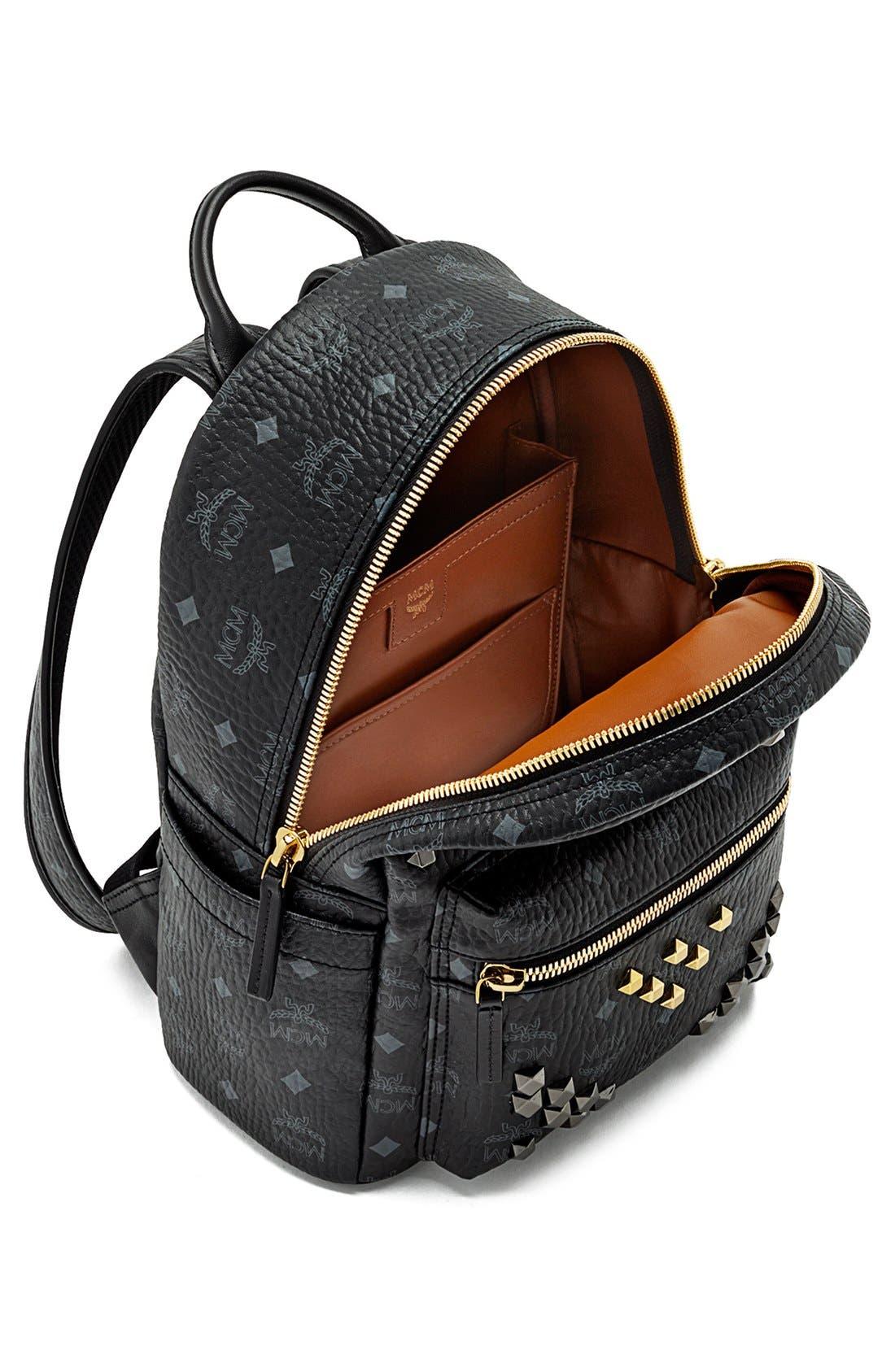 Alternate Image 4  - MCM 'Small Stark - Visetos' Studded Backpack
