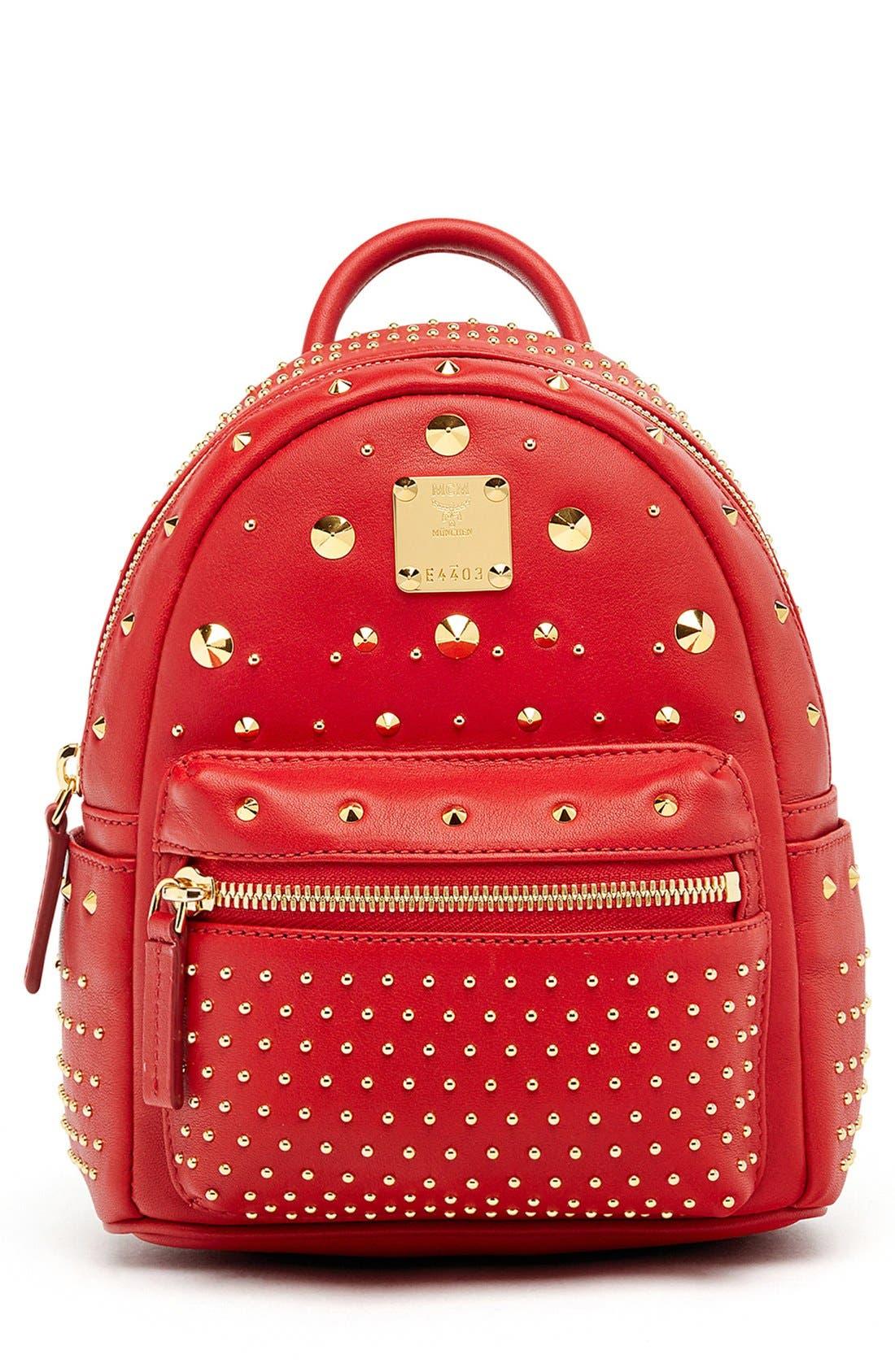 Main Image - MCM 'X Mini Stark - Bebe Boo' Studded Leather Backpack