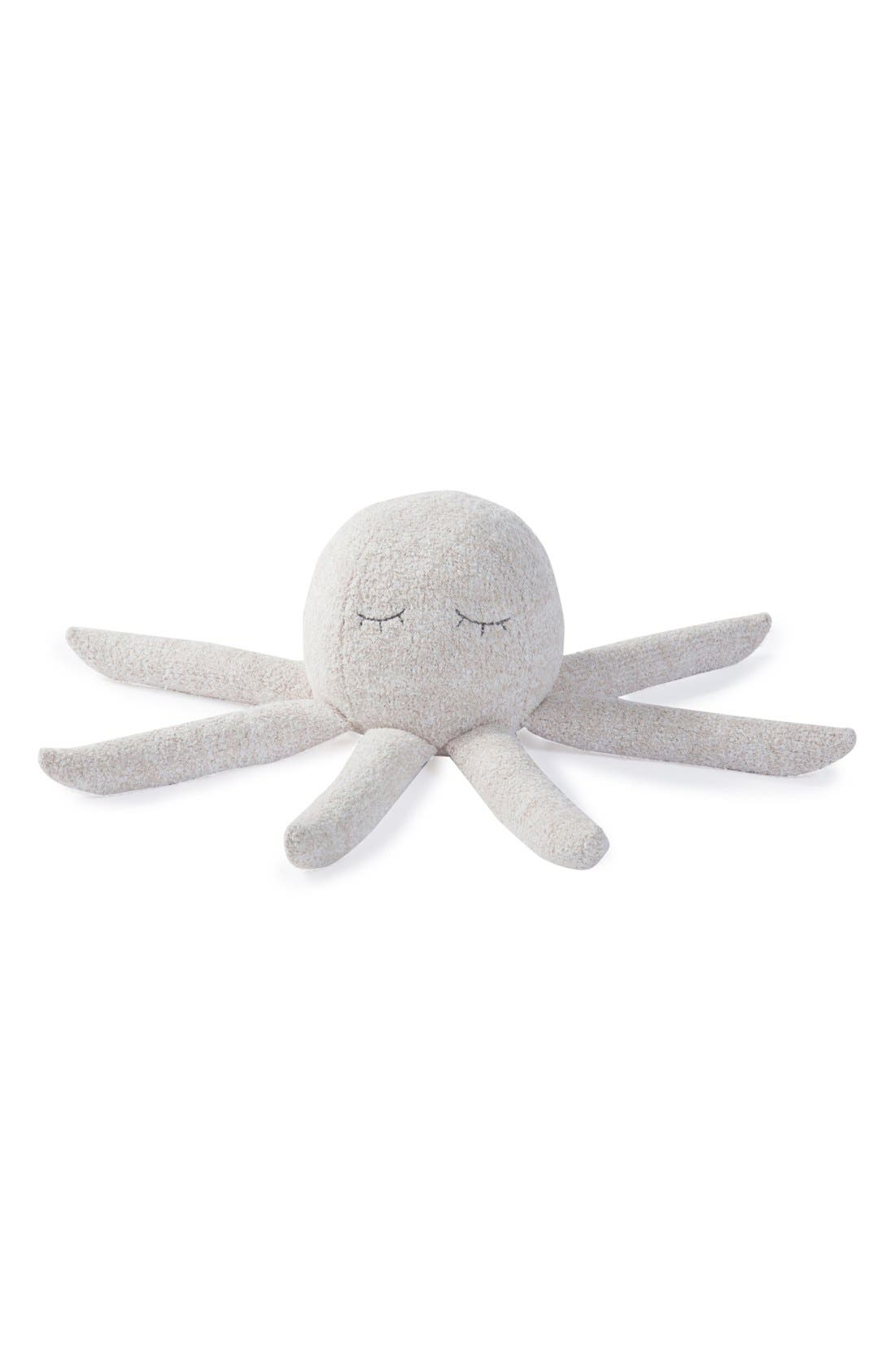 'CozyChic<sup>®</sup> Octopus Buddie' Plush Toy,                             Main thumbnail 1, color,                             Stone/White