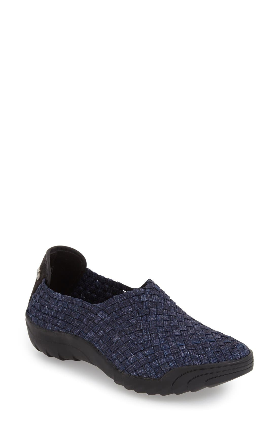 'Rigged Jim' Slip-On Sneaker,                             Main thumbnail 1, color,                             Jeans Fabric