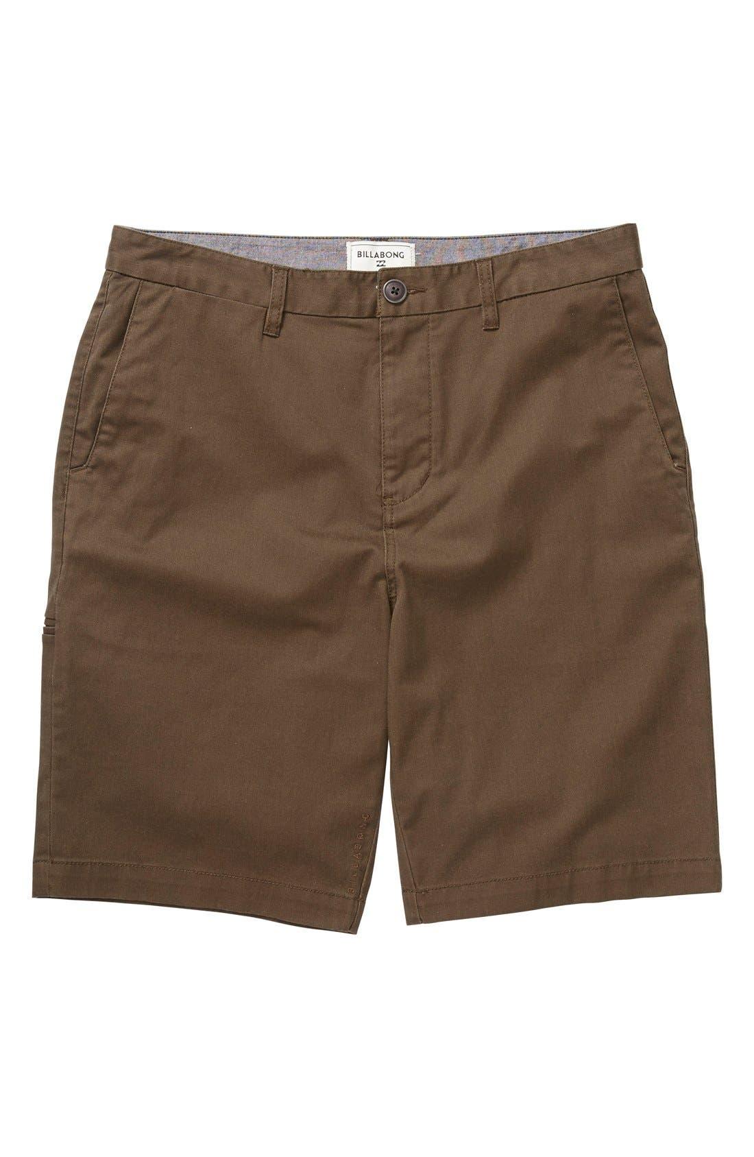 Main Image - Billabong 'Carter' Cotton Twill Shorts (Toddler Boys & Little Boys)