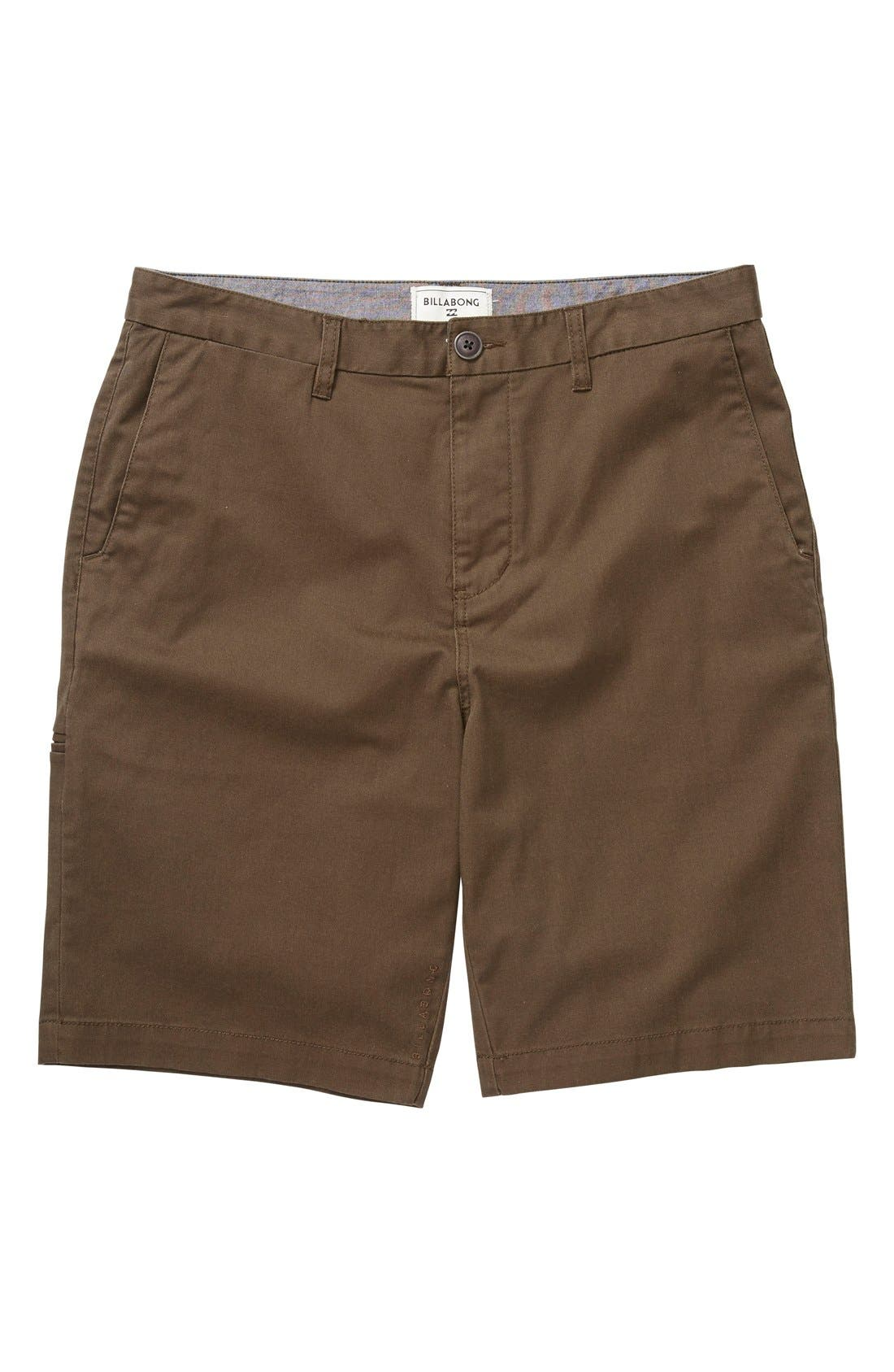 'Carter' Cotton Twill Shorts,                         Main,                         color, Earth