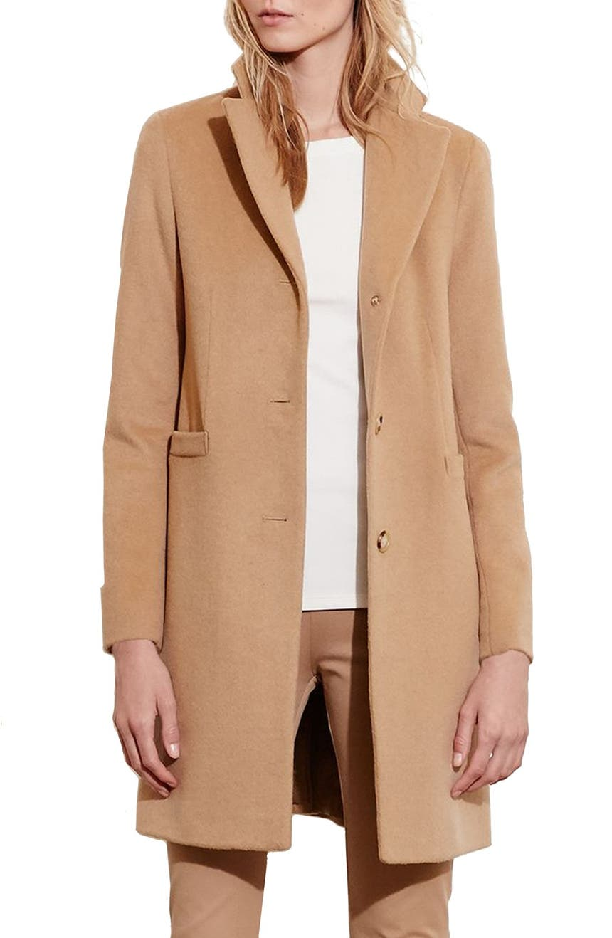 Lauren Ralph Lauren Wool Blend Reefer Coat (Regular & Petite ...