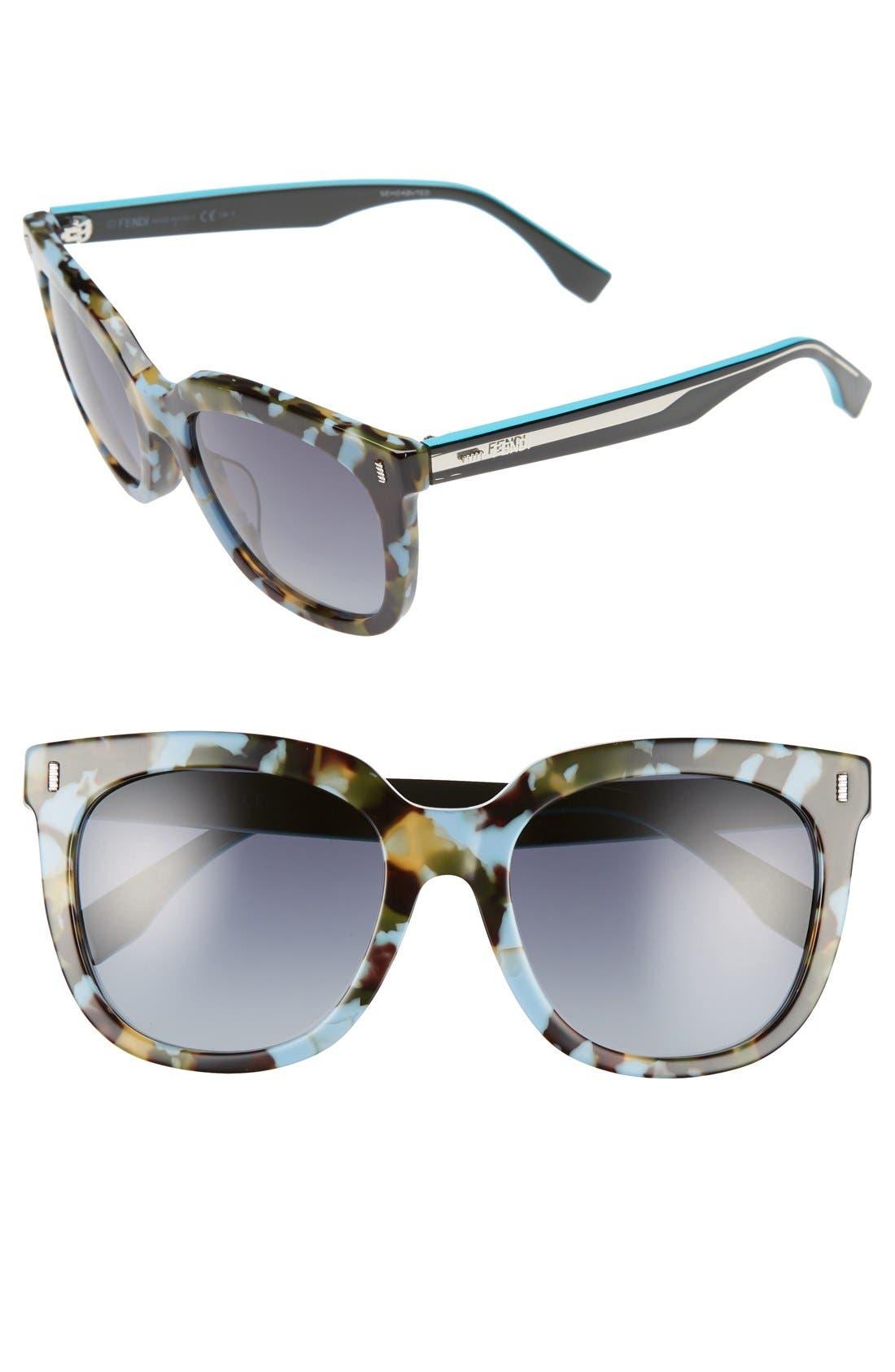 Alternate Image 1 Selected - Fendi 54mm Retro Sunglasses