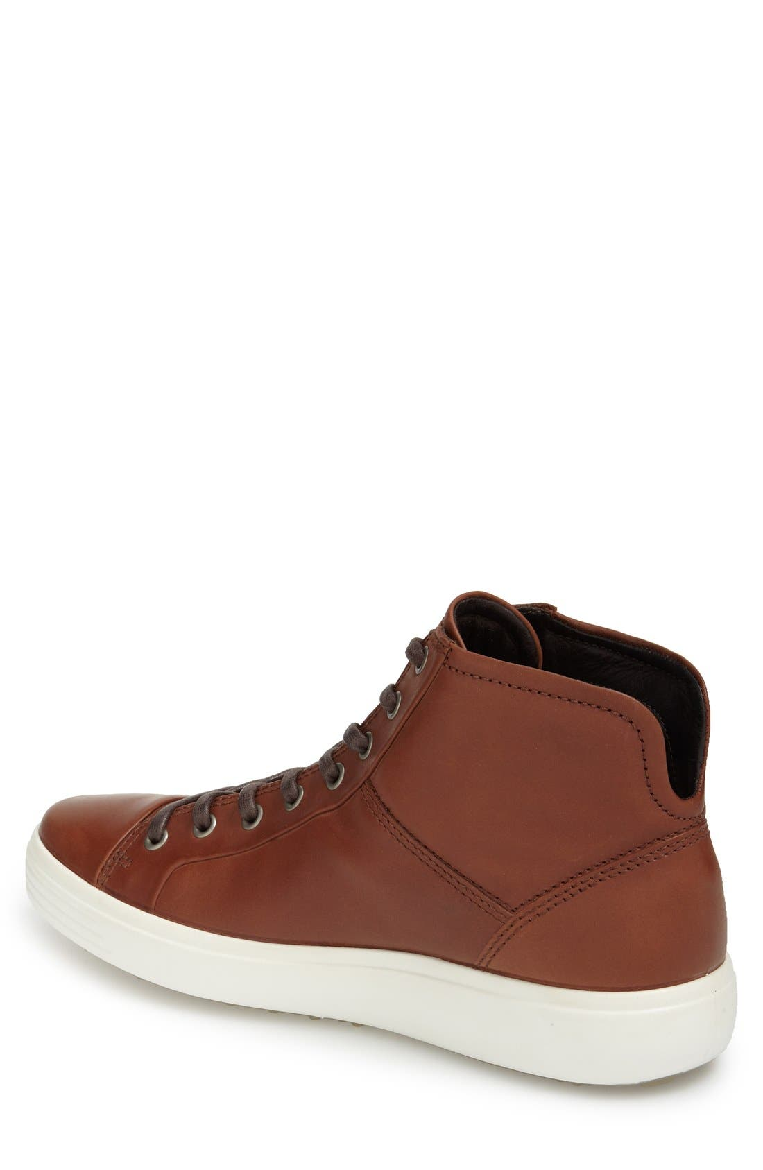 Alternate Image 2  - ECCO 'Soft 7' High Top Sneaker (Men)