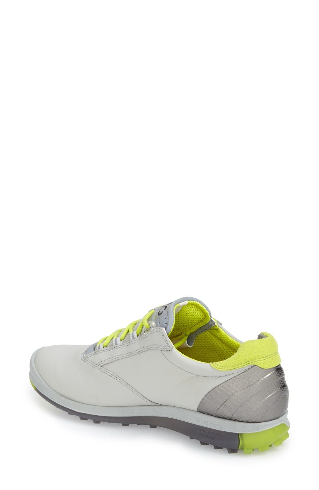 'BIOM' Hydromax<sup>®</sup> Waterproof Golf Shoe,                             Alternate thumbnail 2, color,                             Concrete Leather