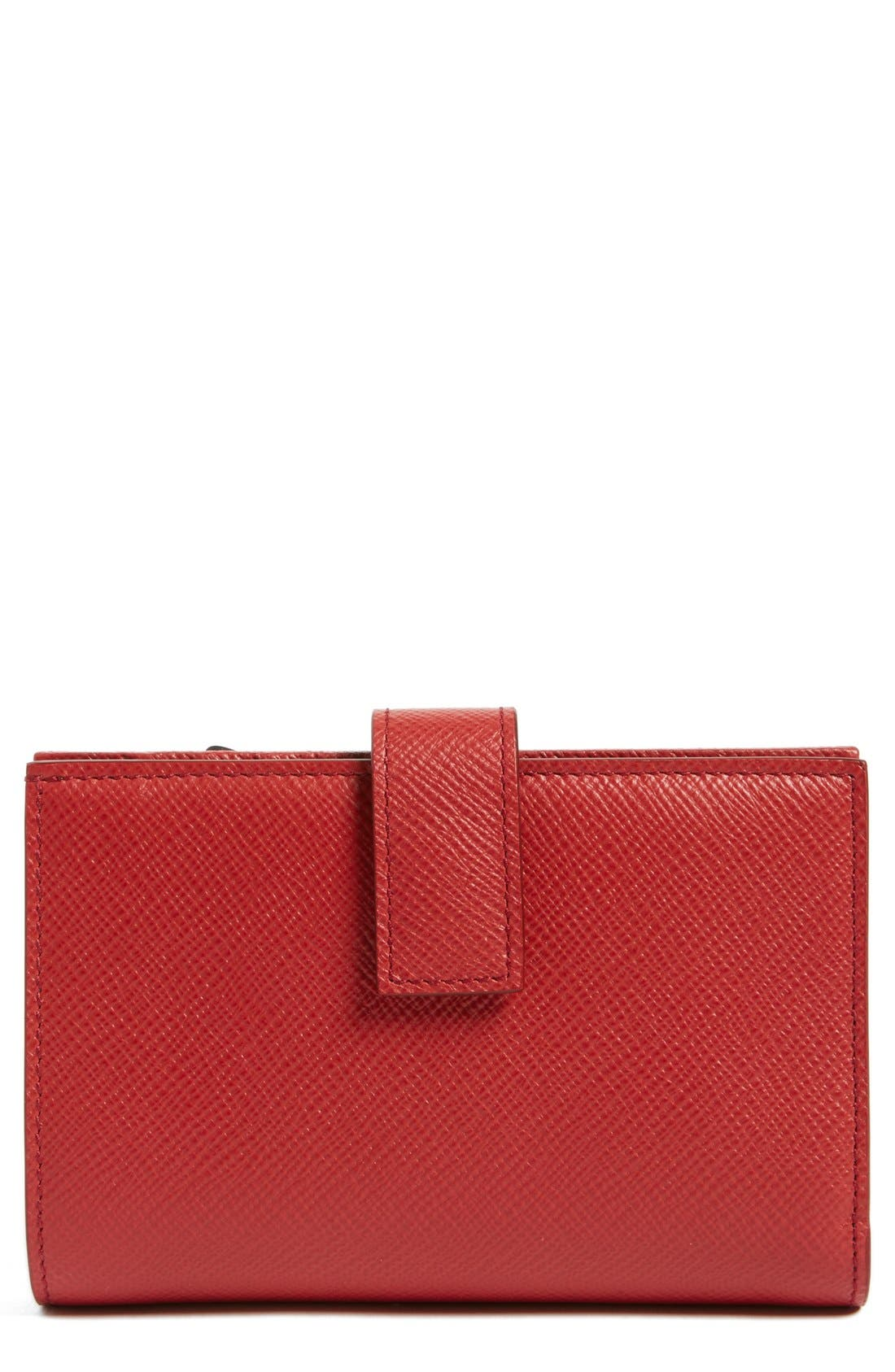 'Medium' Continental Wallet,                         Main,                         color, Red