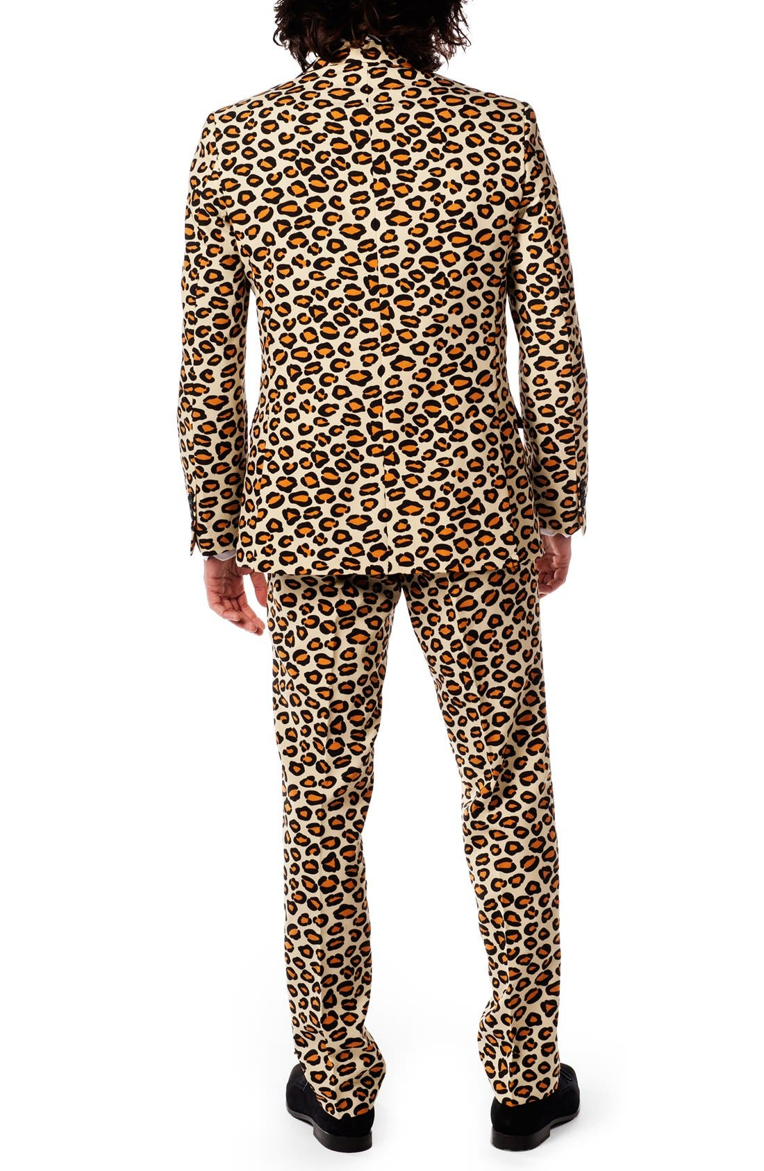 'The Jag' Trim Fit Two-Piece Suit with Tie,                             Alternate thumbnail 2, color,                             Dark Beige