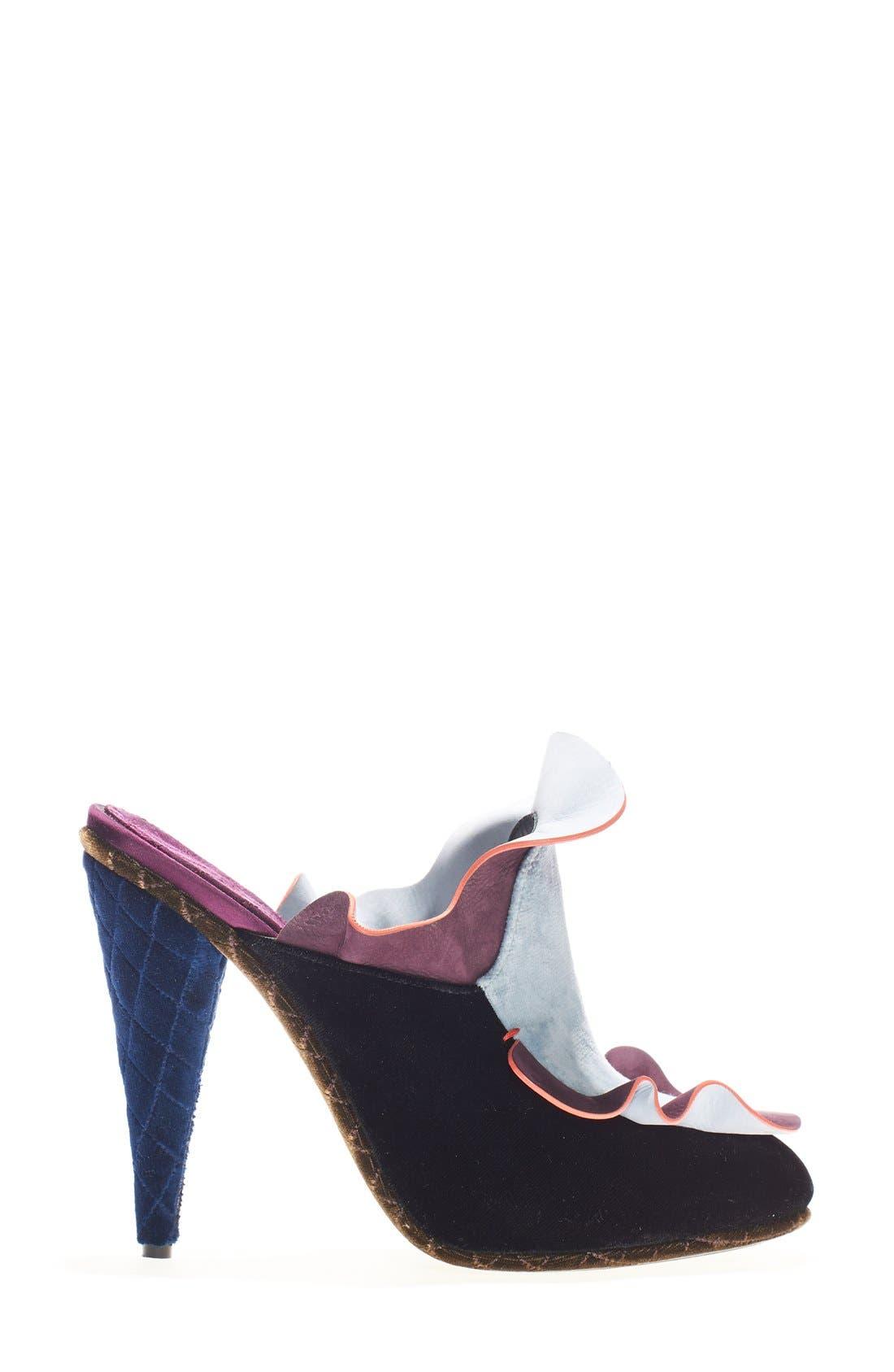 Alternate Image 4  - Fendi 'Velvet Waves' Mule (Women)