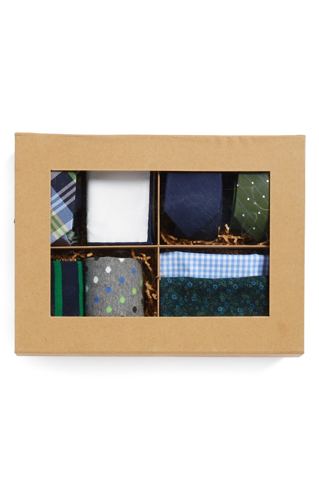 Large Style Box,                             Alternate thumbnail 2, color,                             Green/Navy