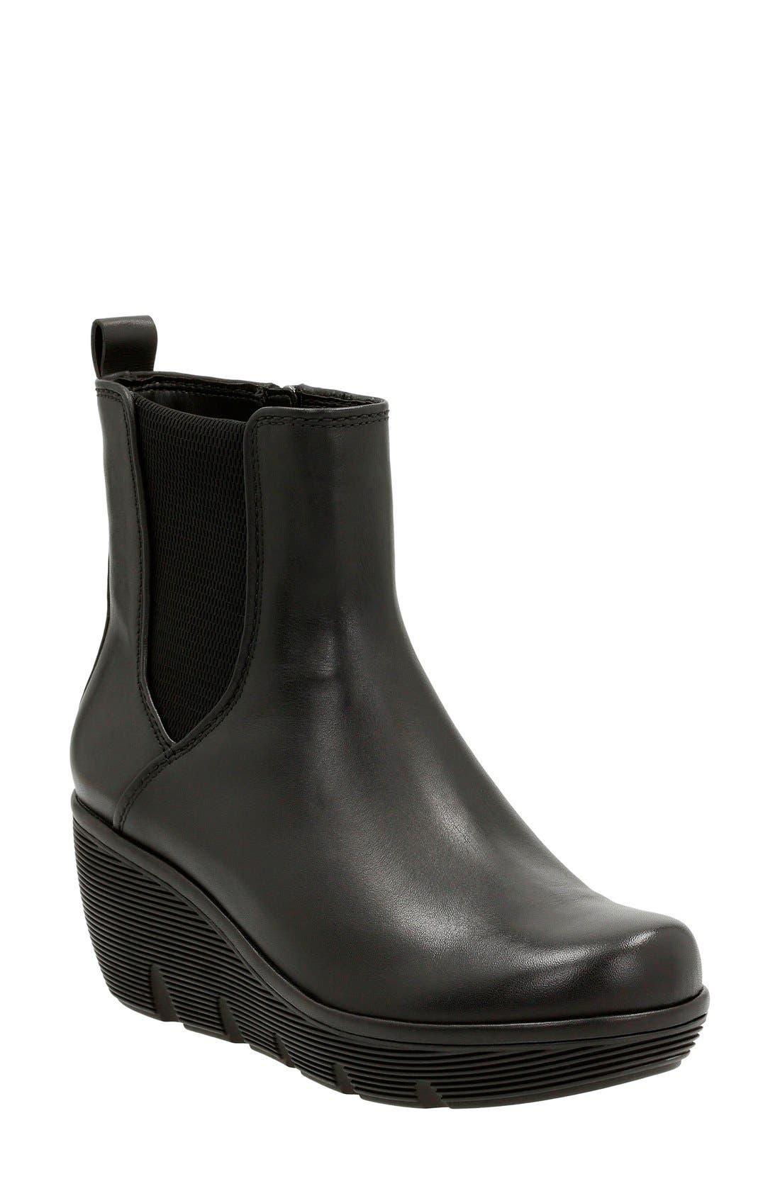 Alternate Image 1 Selected - Clarks® 'Clarene Surf' Wedge Chelsea Boot (Women)