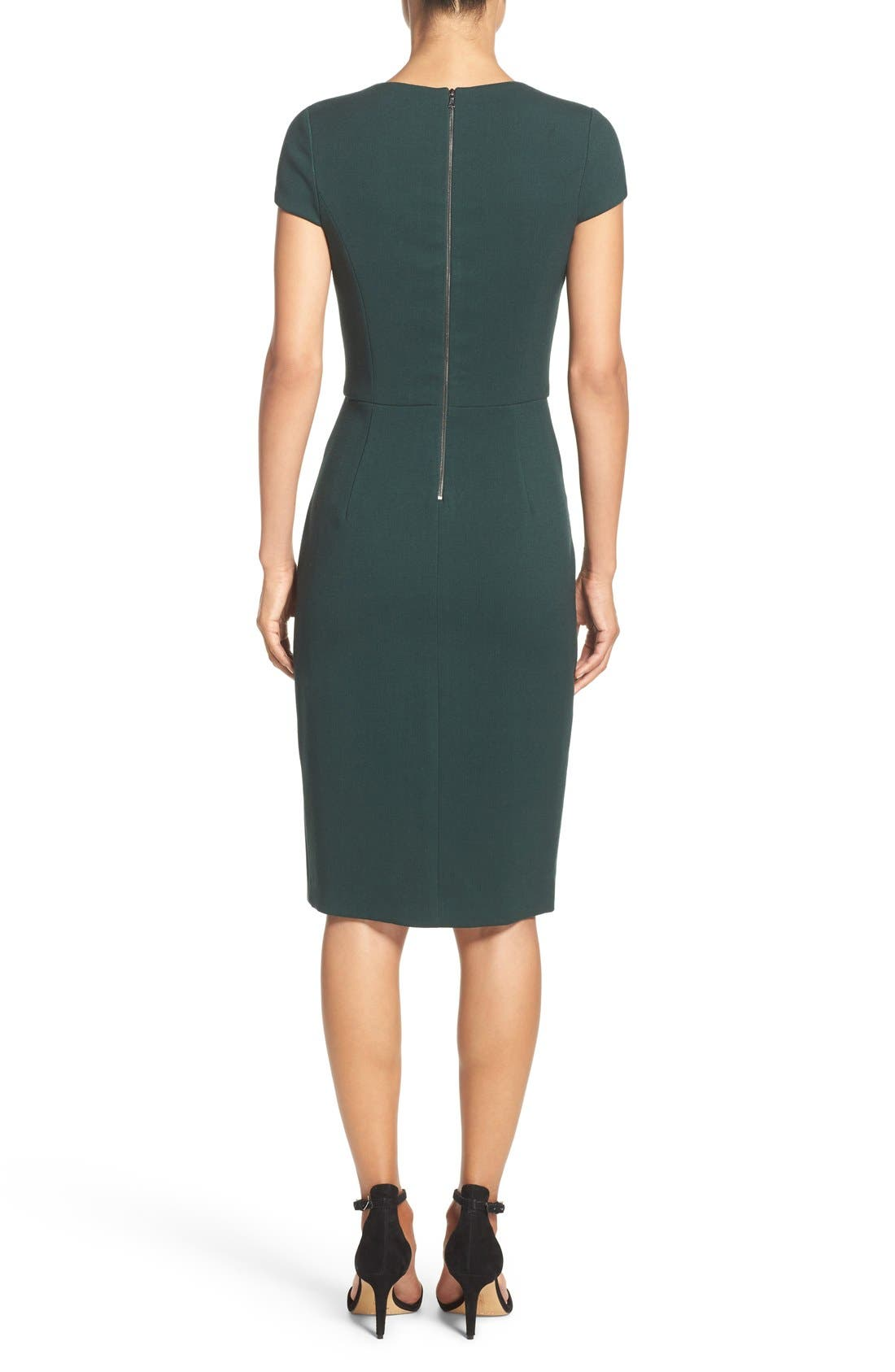 Alternate Image 3  - Vince Camuto Midi Sheath Dress (Regular & Petite)