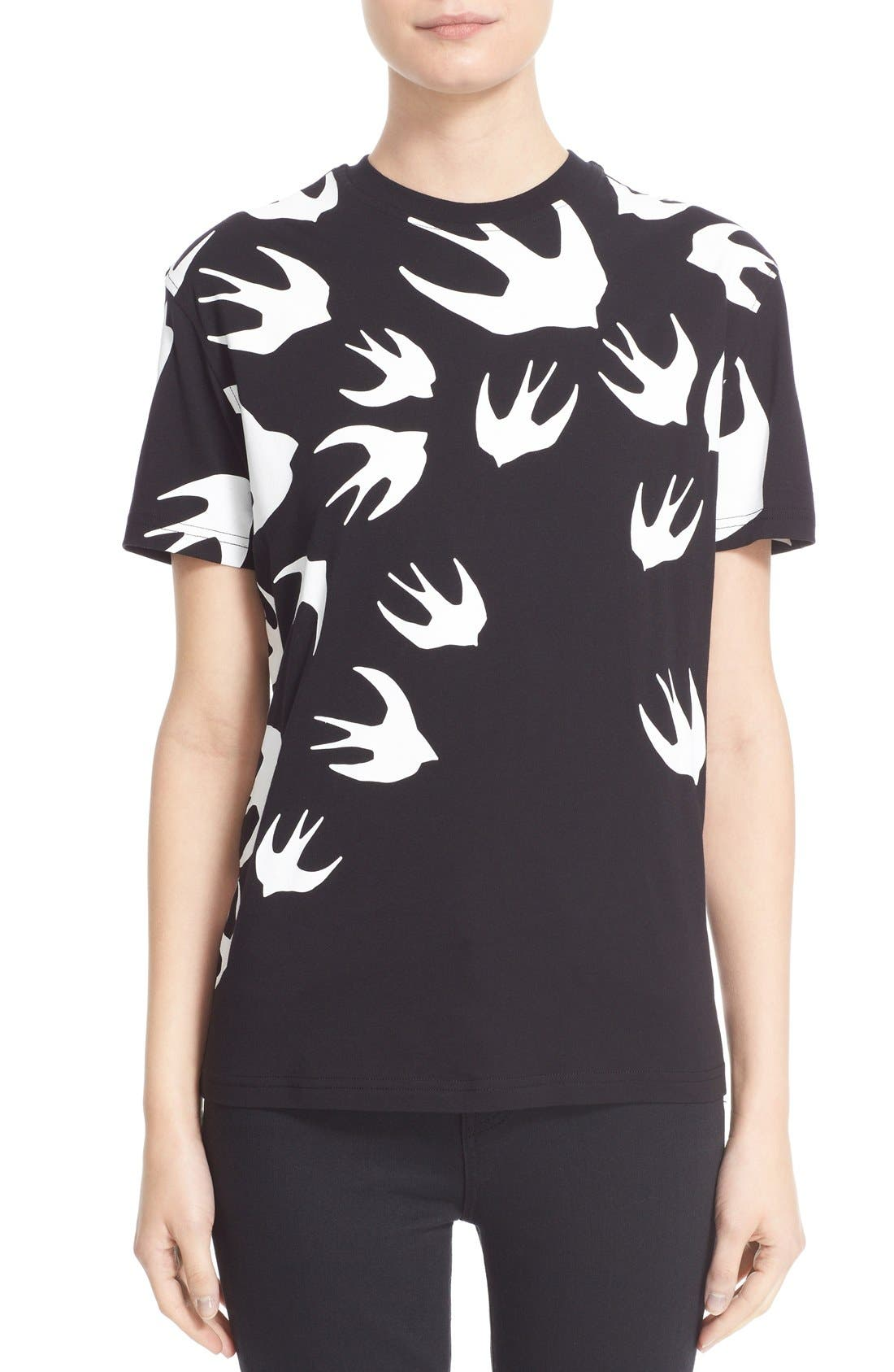 Alternate Image 1 Selected - McQ Alexander McQueen Swallow Print Tee