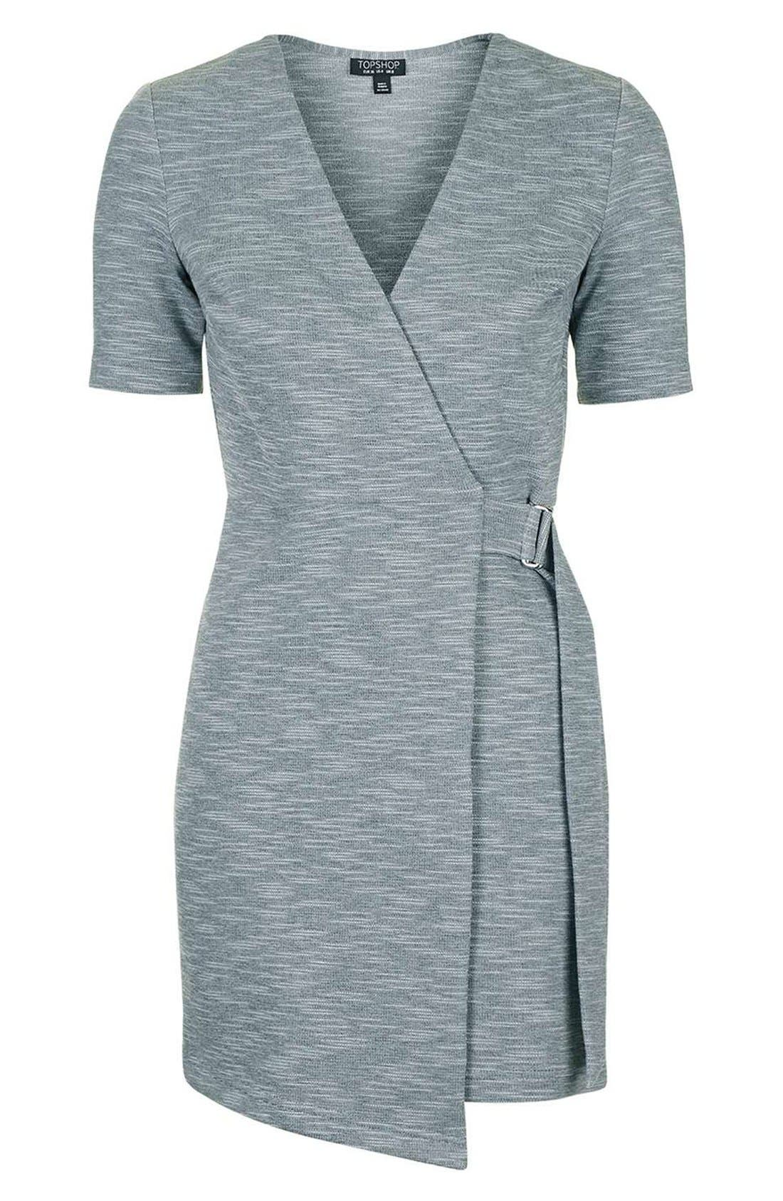 Alternate Image 4  - Topshop Belted Wrap Minidress