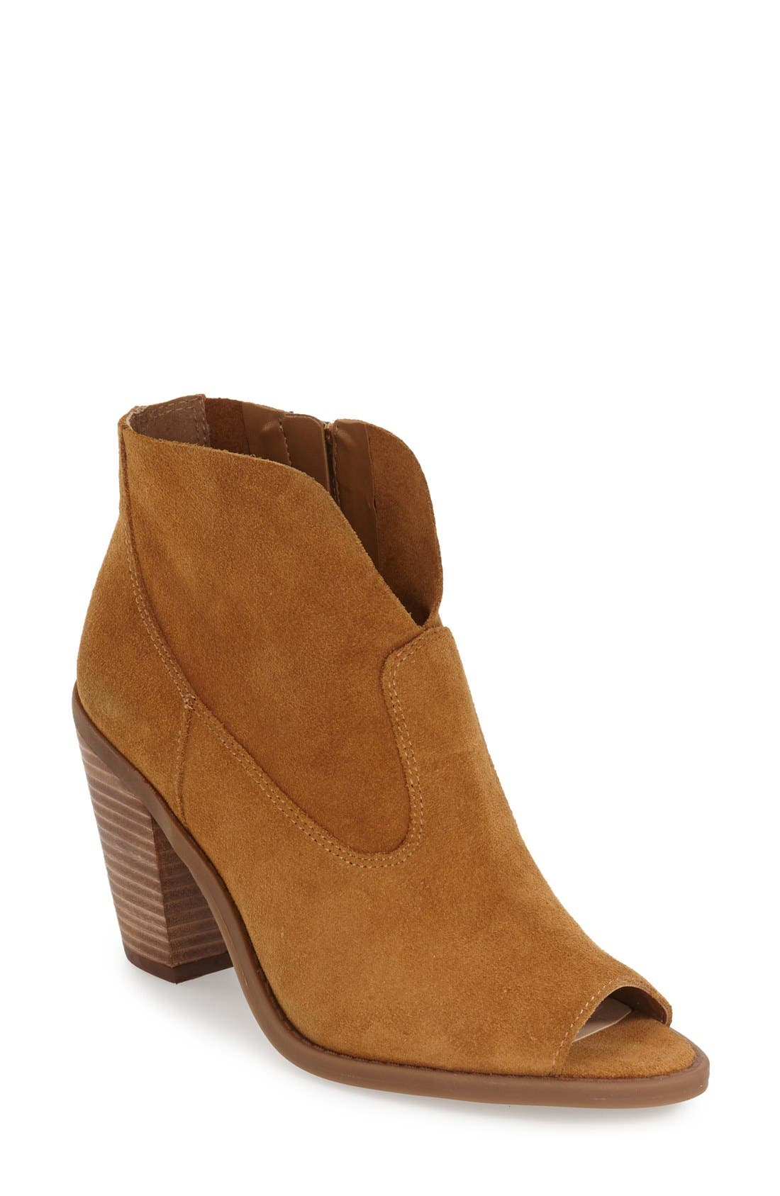 Jessica Simpson Open Toe Zip Bootie (Women)