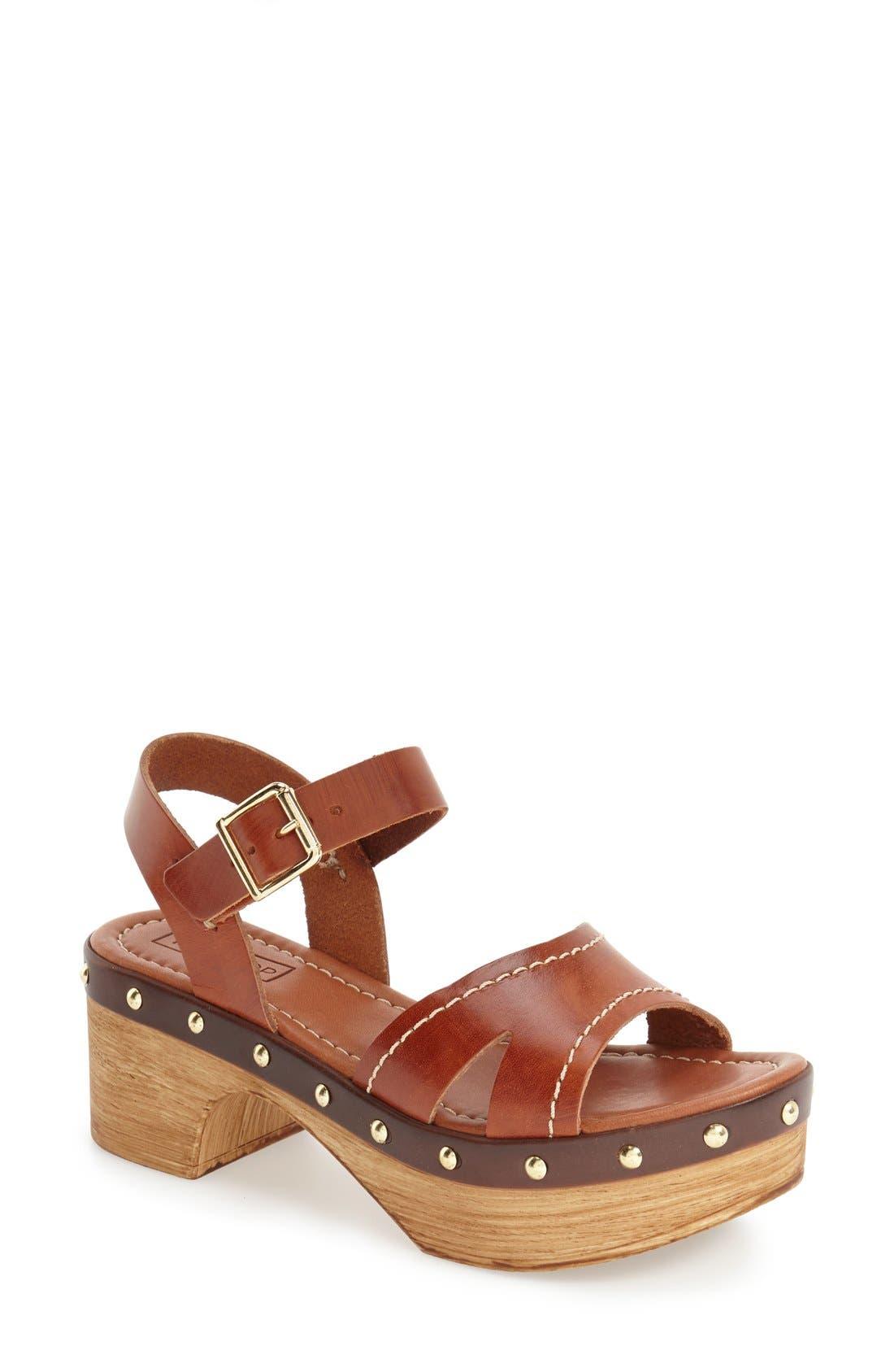 'VIV' Clog Sandals,                         Main,                         color, Tan
