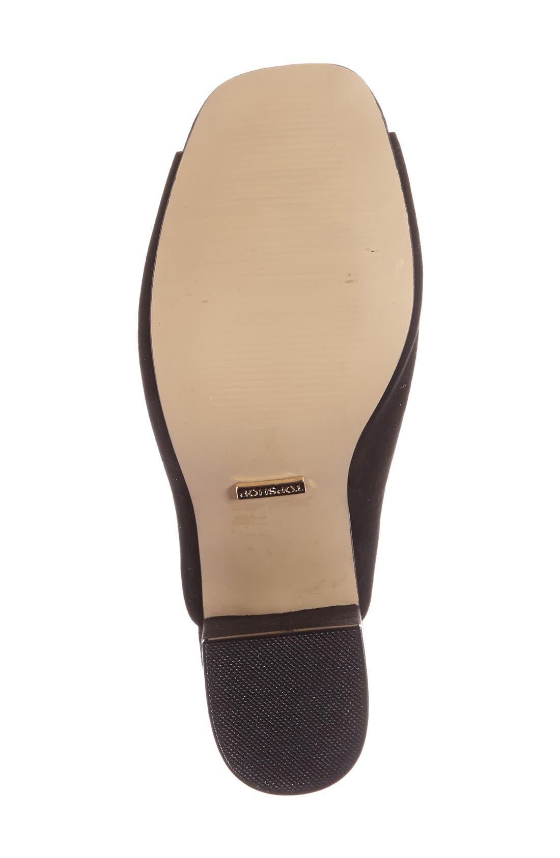 Alternate Image 4  - Topshop 'Rule' Block Heel Mule (Women)